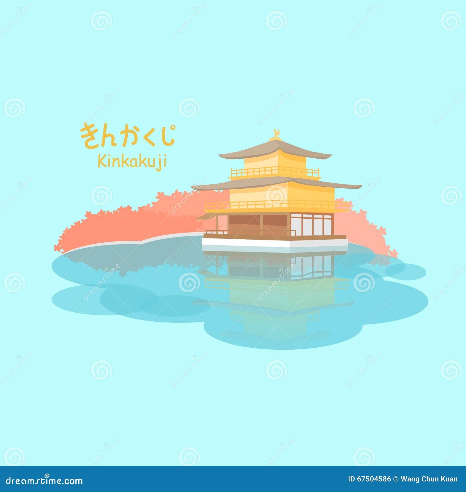 Den guld- paviljongen i Japan