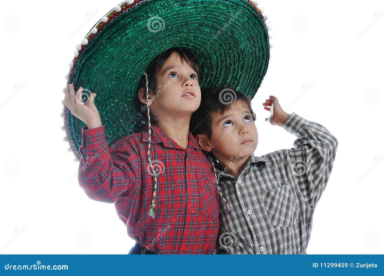 Den gulliga hatten lurar mexikan