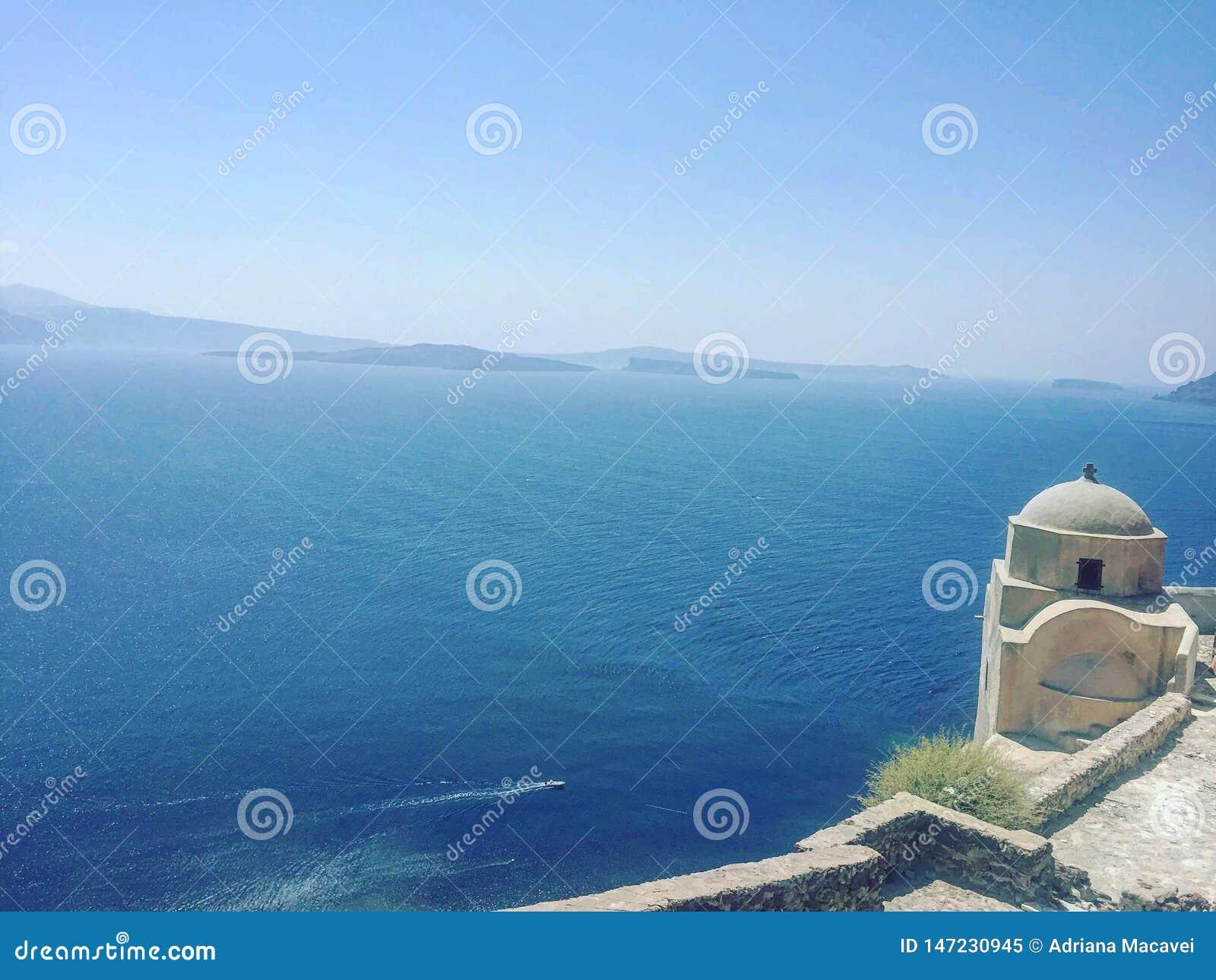 Den härliga kyrkliga bosättningen i Grekland