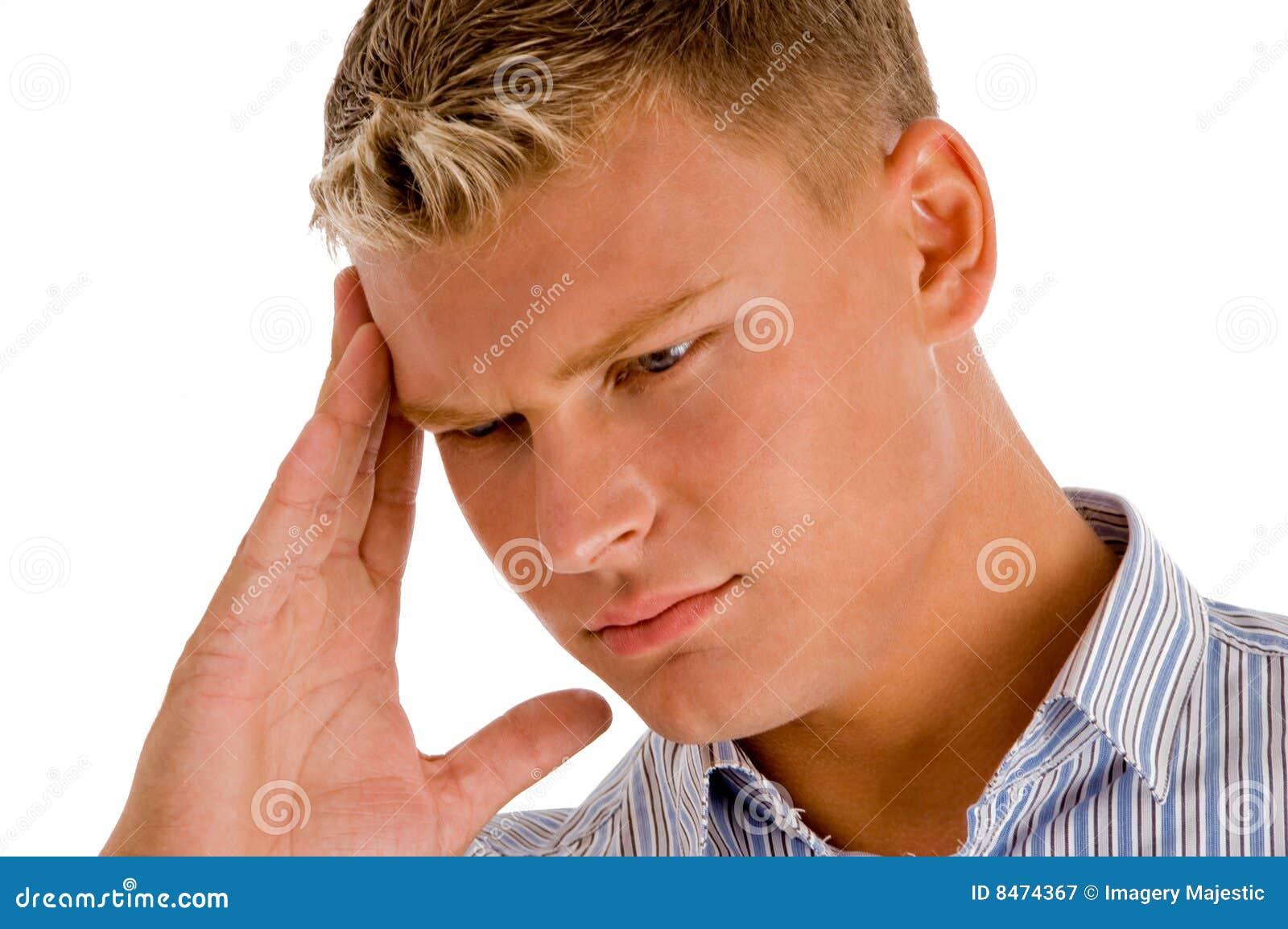 Den head mannen smärtar att lida