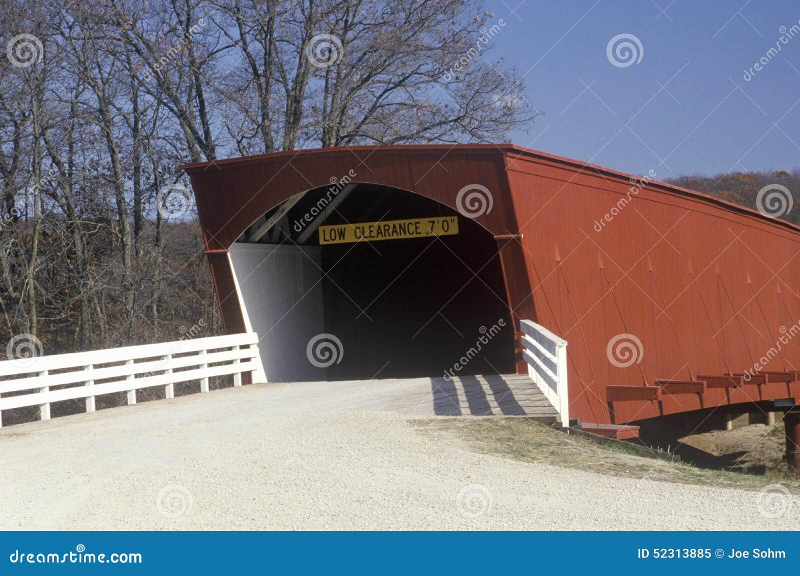 Den Hogback täckte bron i Madison County, Iowa