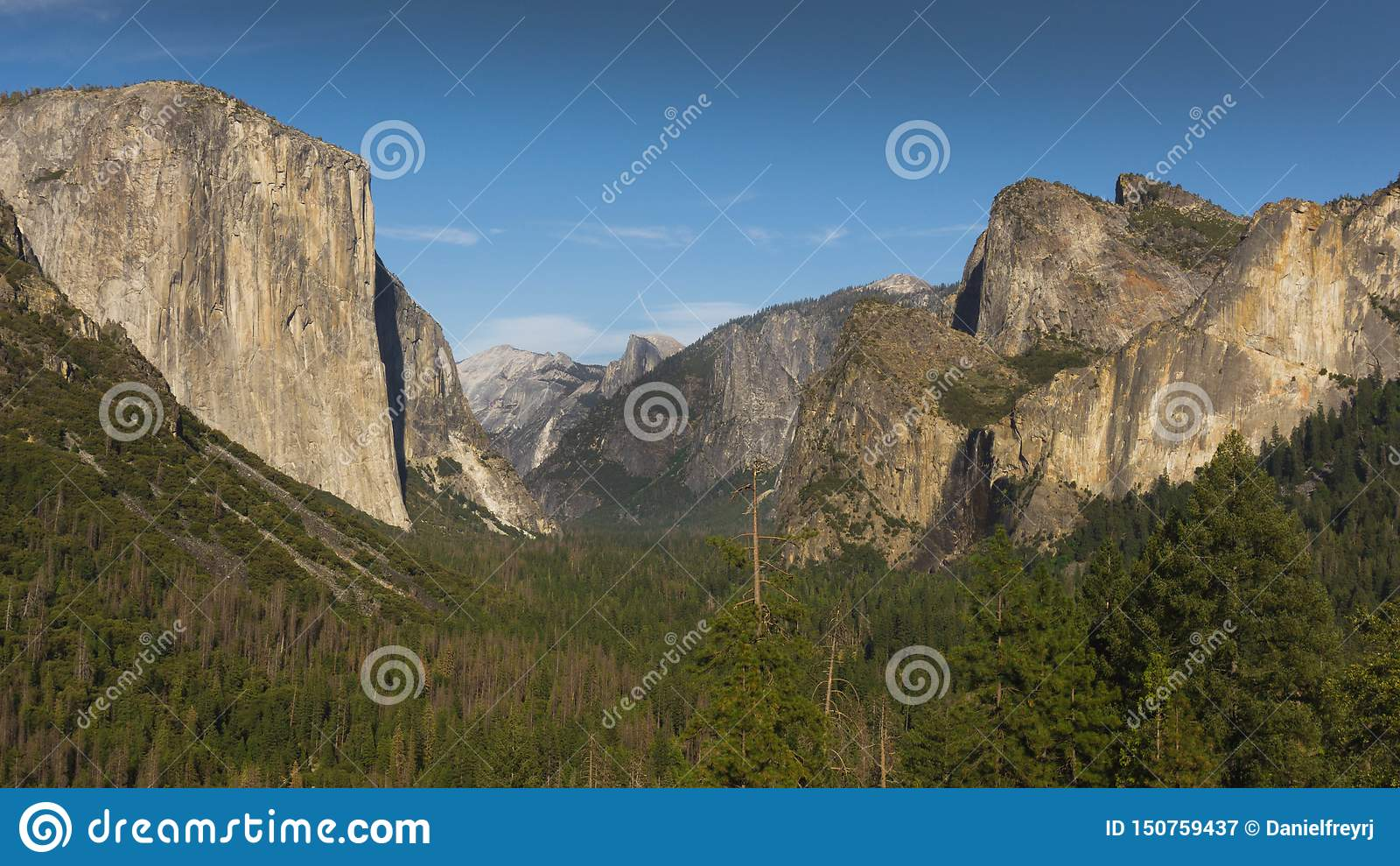Den iconic Yosemite tunnelsikten, Kalifornien