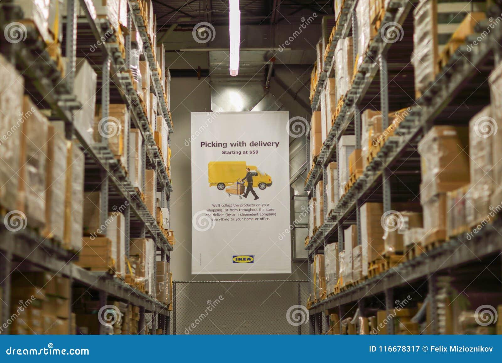 Den Ikea Lagerpaletten Racks Det Industriella Lagret