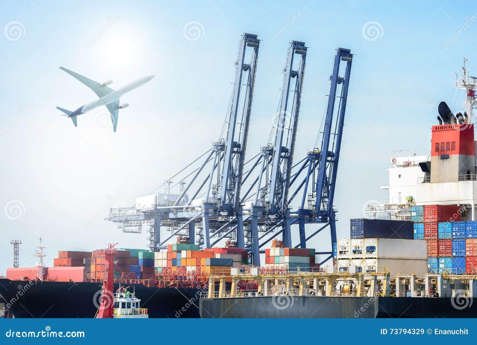 Den internationella behållarelastfartyg- och lastnivån för logistisk import exporterar bakgrund