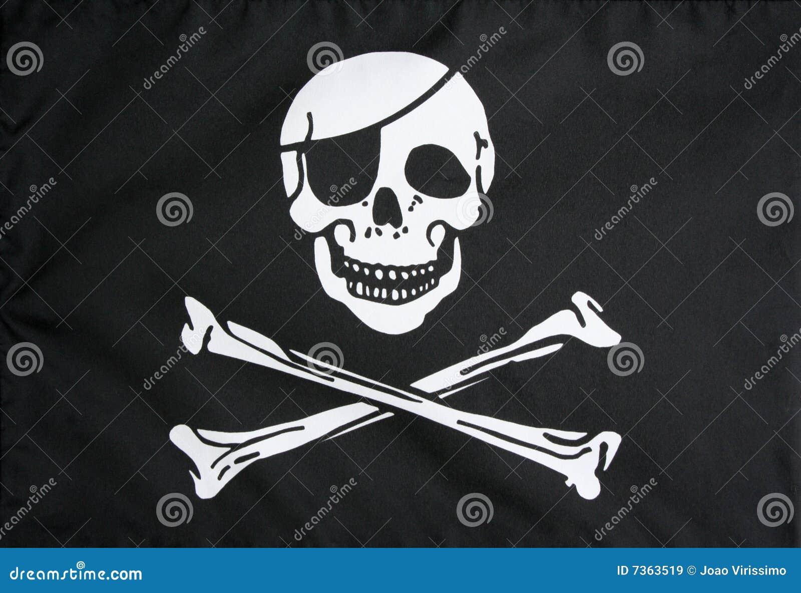 Den jolly flaggan piratkopierar roger