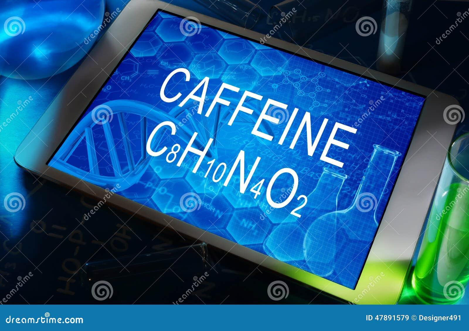 Den kemiska formeln av koffein