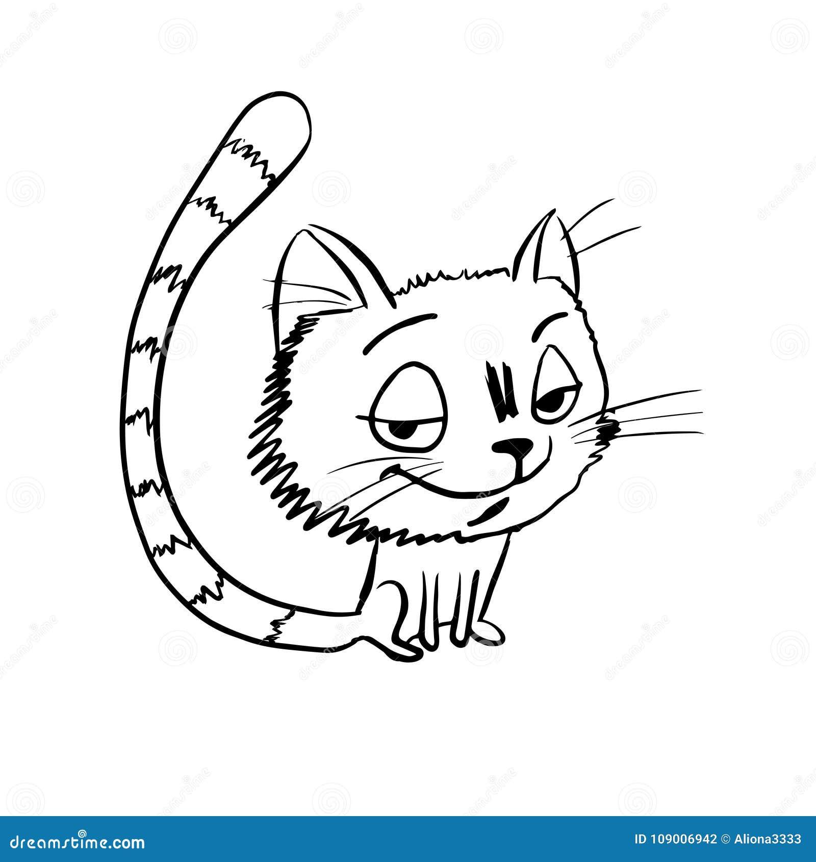 Den knepiga katten skissar