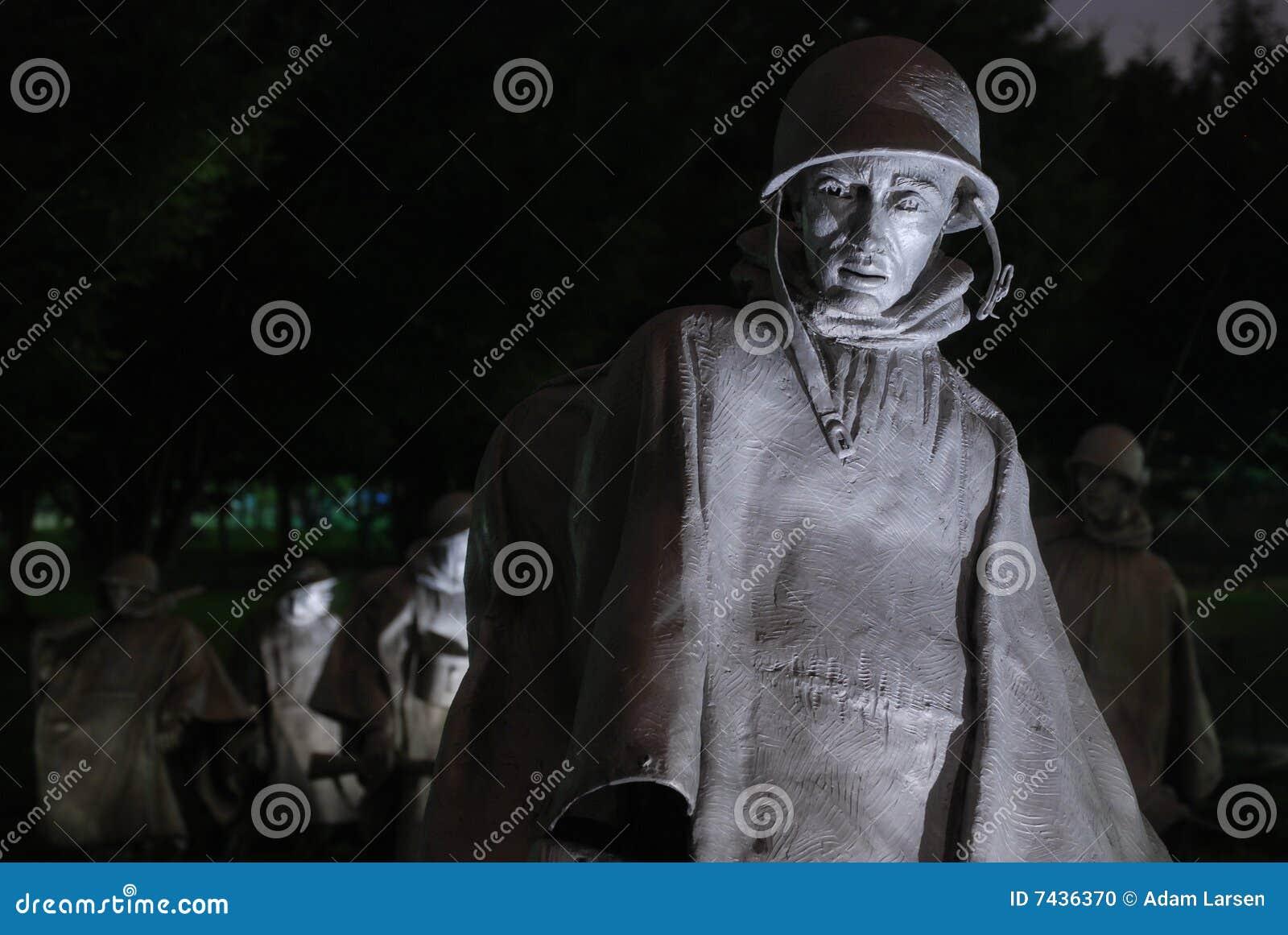 Den koreanska minnesmärken kriger
