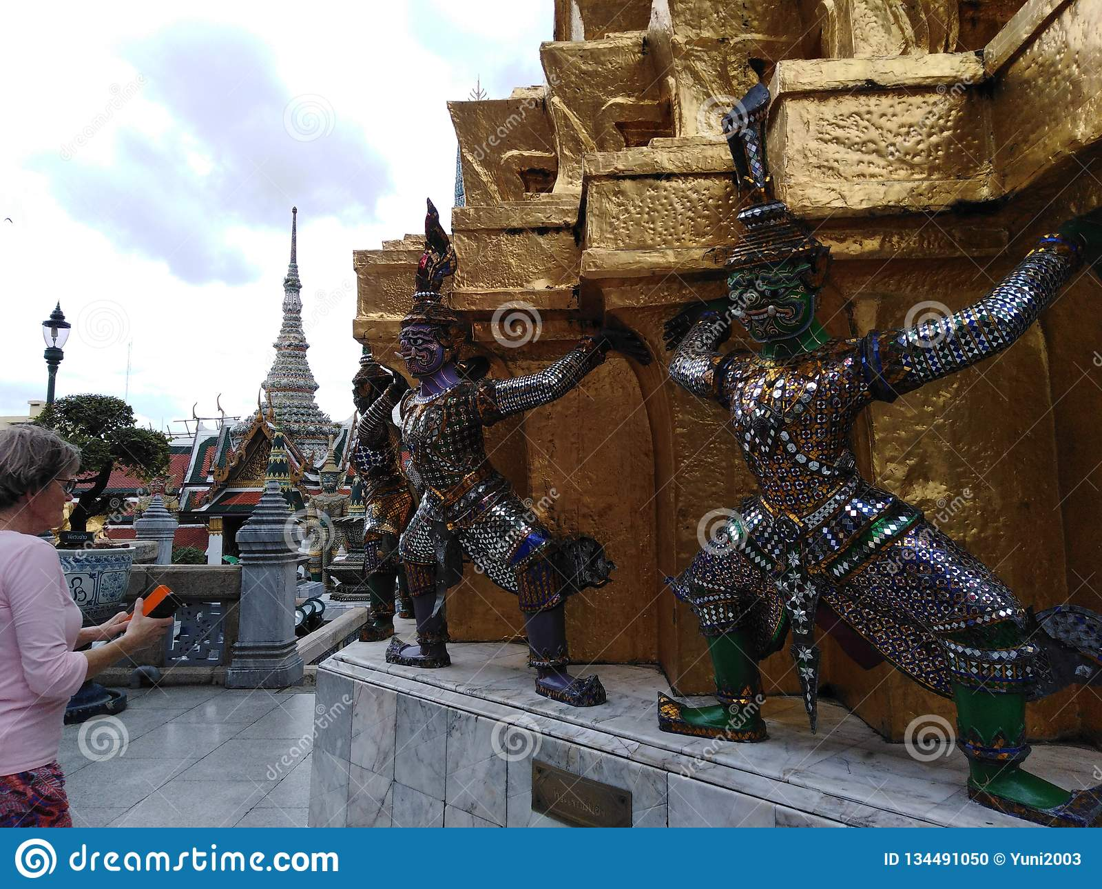 Den kungliga slotten i Bangkok