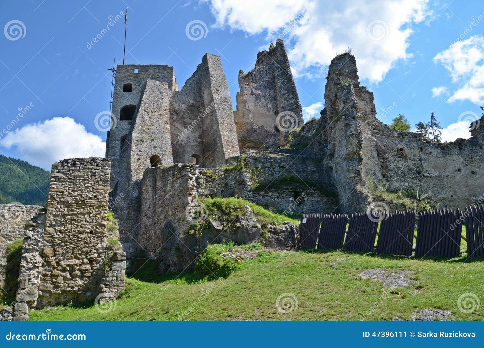 Den Likava slotten fördärvar