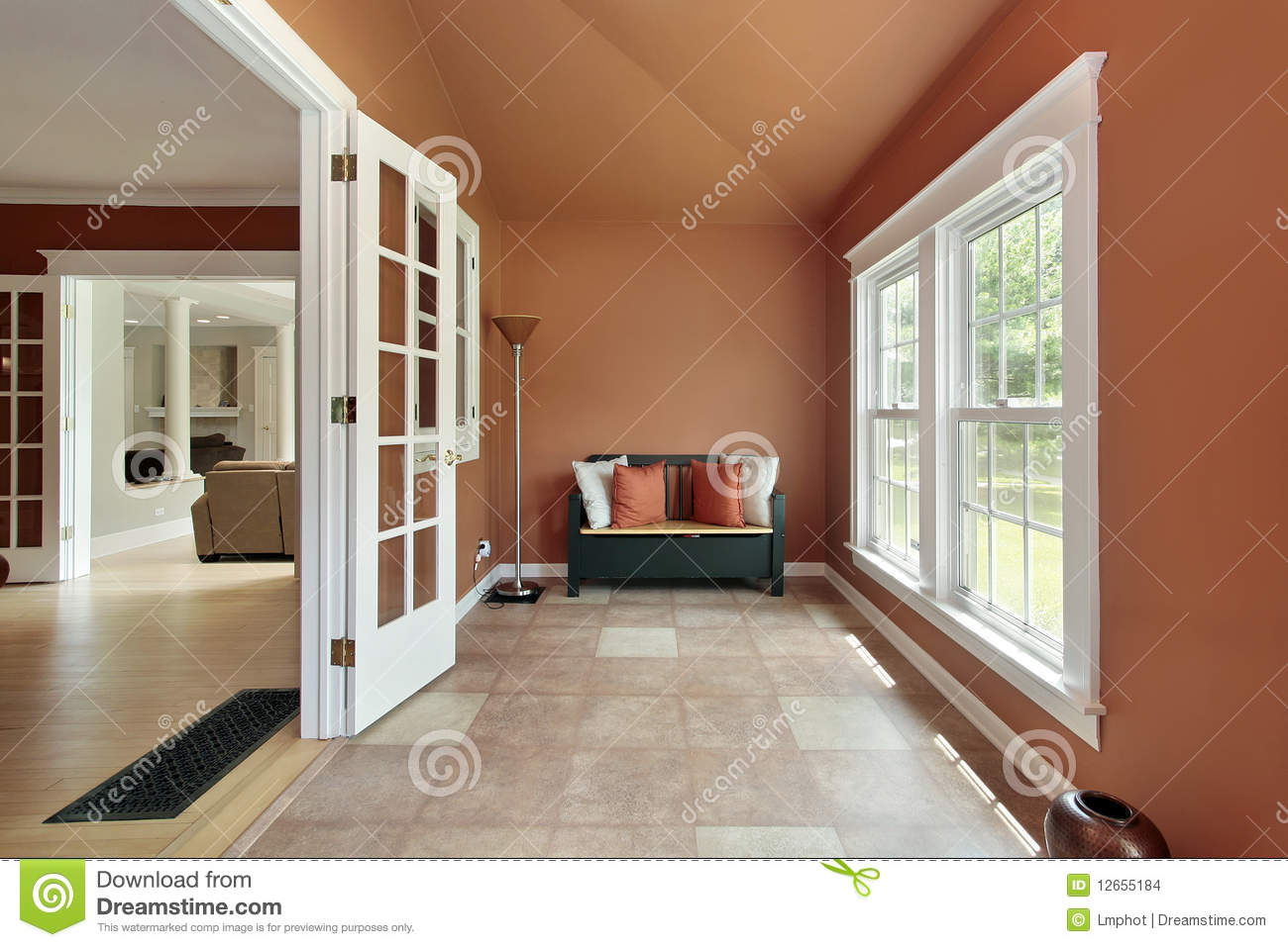 Den In Luxury Home Stock Images Image 12655184