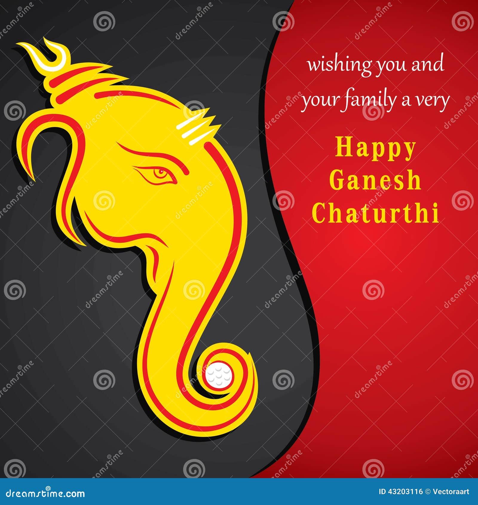 Download Den Lyckliga Ganeshchaturthien Skissar Hälsningkortdesign Vektor Illustrationer - Illustration av shiva, skissa: 43203116