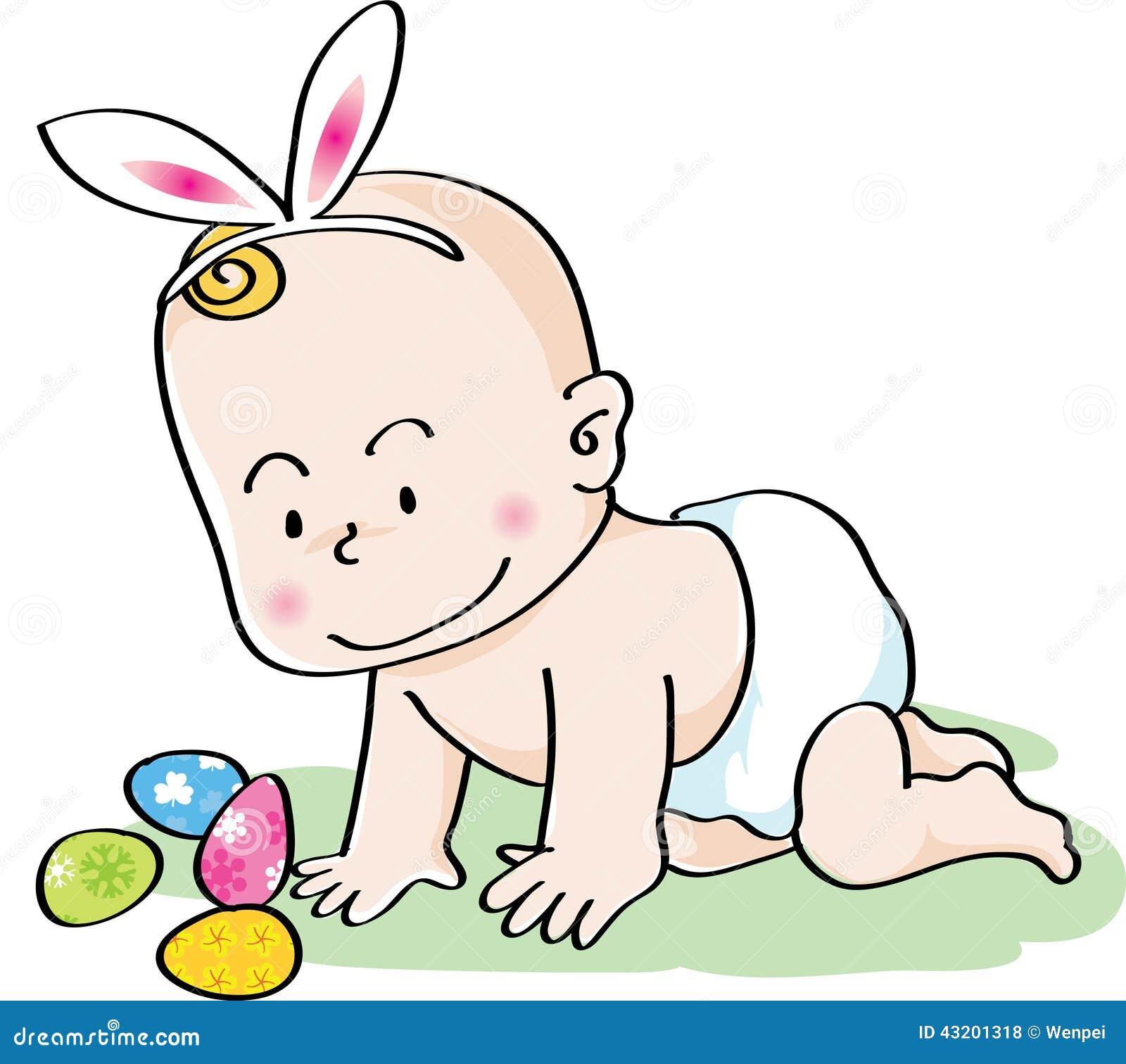 Download Den Lyckliga Påsken Behandla Som Ett Barn Stock Illustrationer - Illustration av smart, barn: 43201318