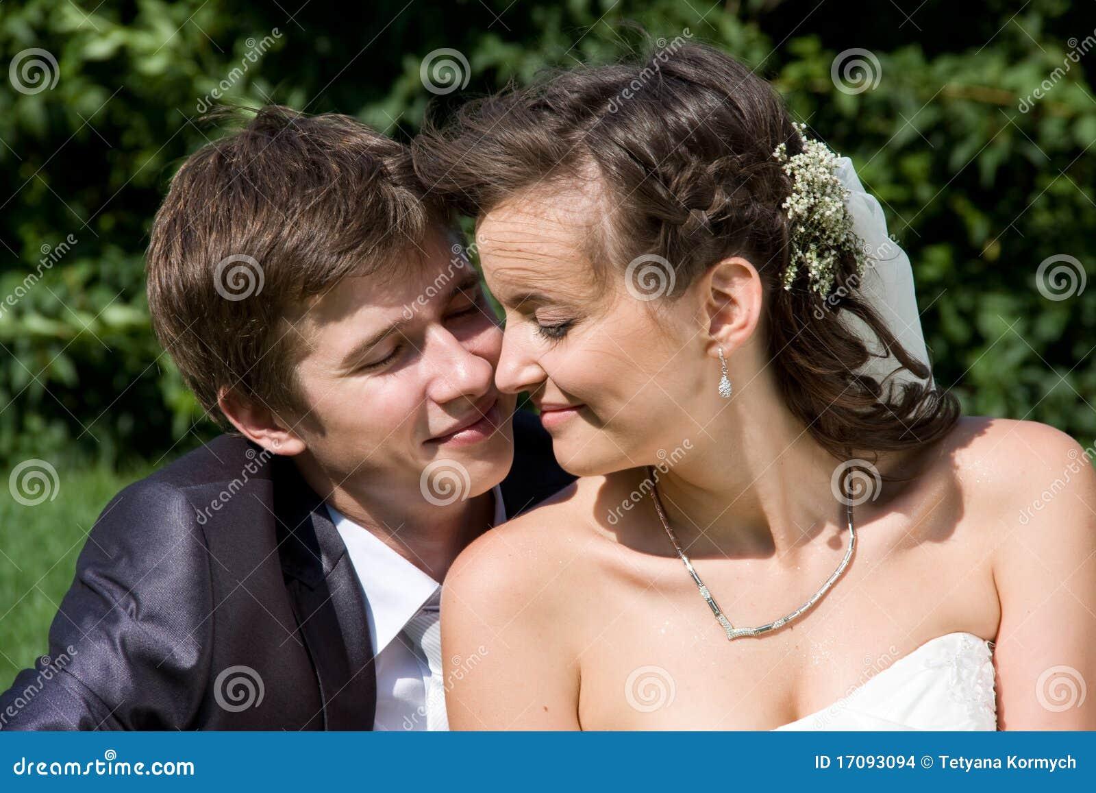 Den lyckliga ståenden gifta sig nytt