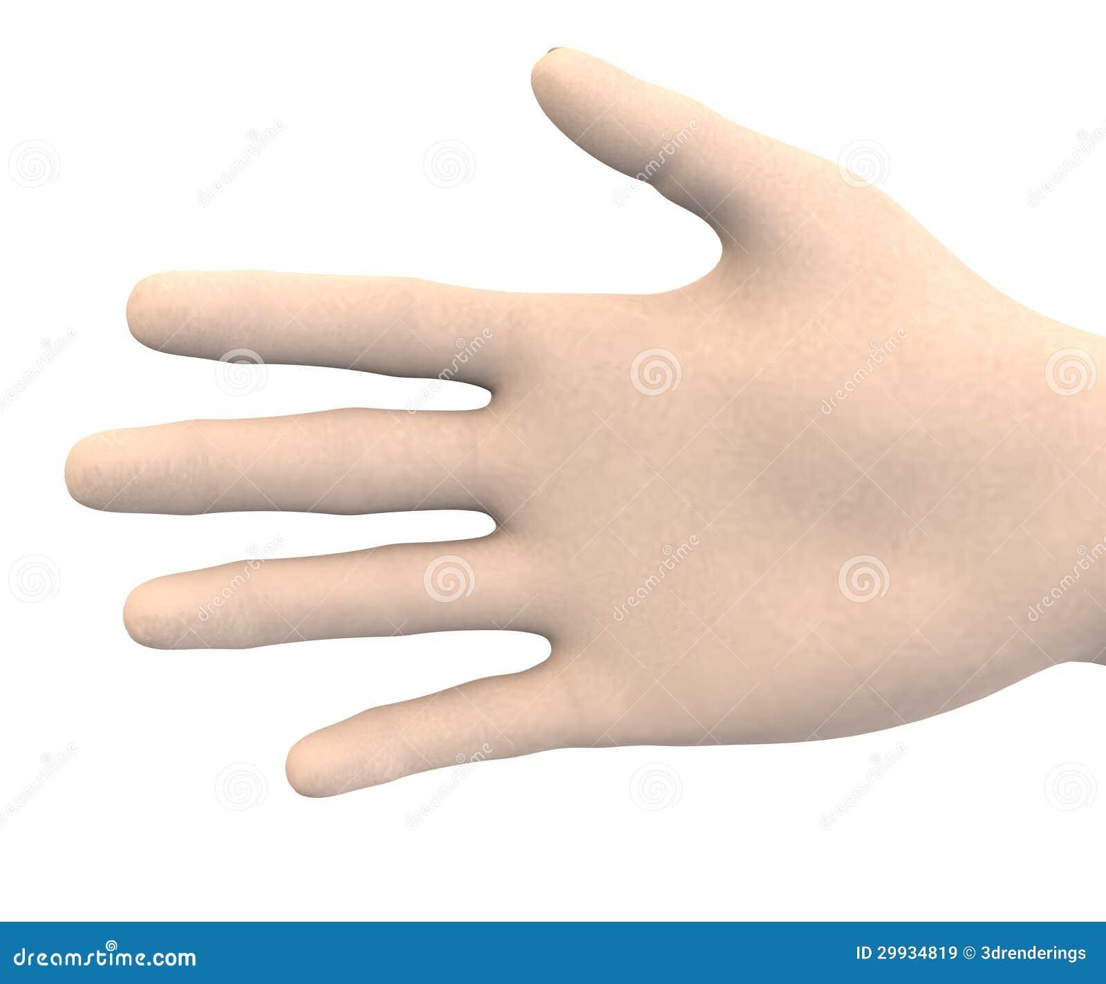 Den mänskliga handen - gömma i handflatan