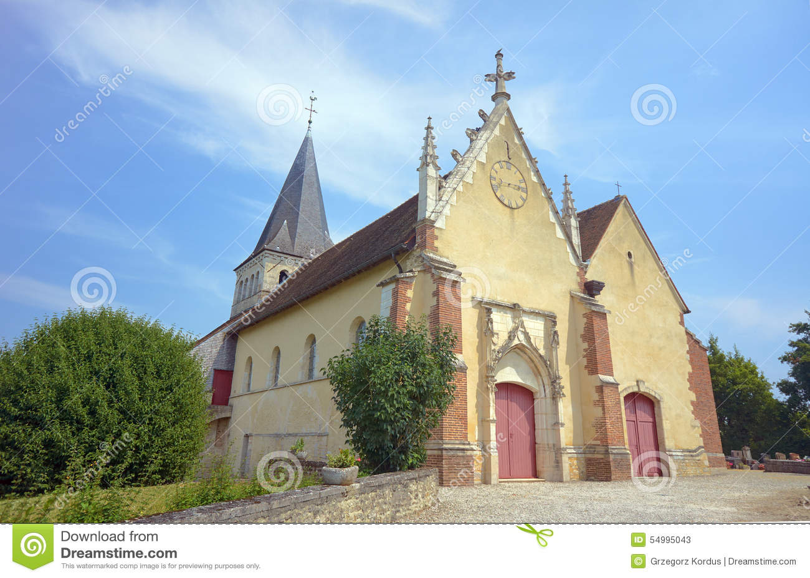 Den medeltida kyrkan i Champagne