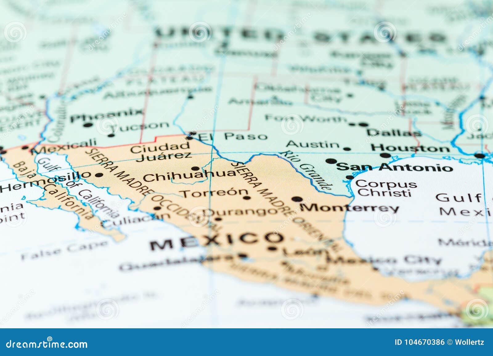 Den Mexico USA gränsen