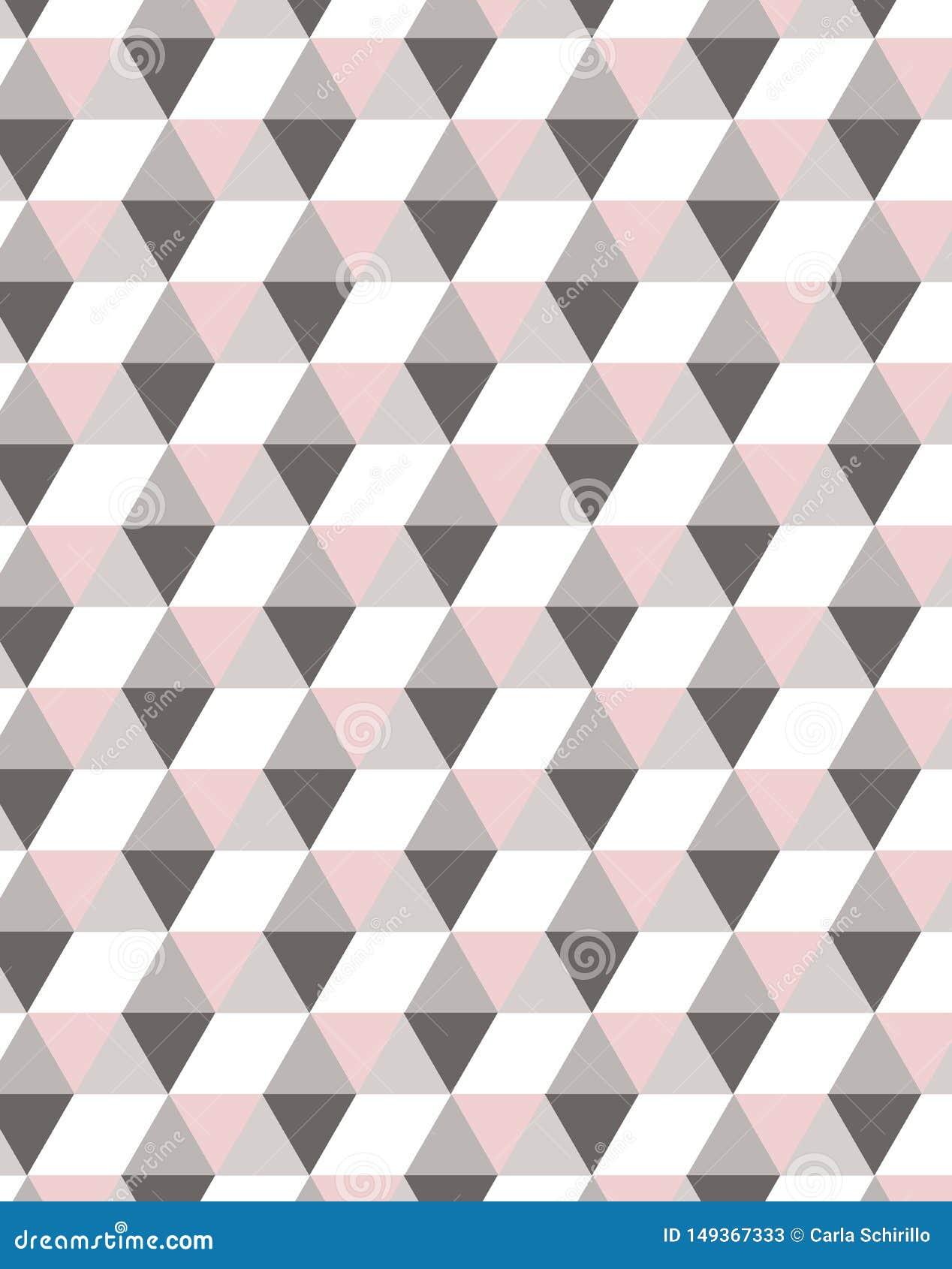 Den minsta geometriska semless modellen i pastellf?rgade rosa signaler som ?r ideala f?r textil, nedl?ta sig