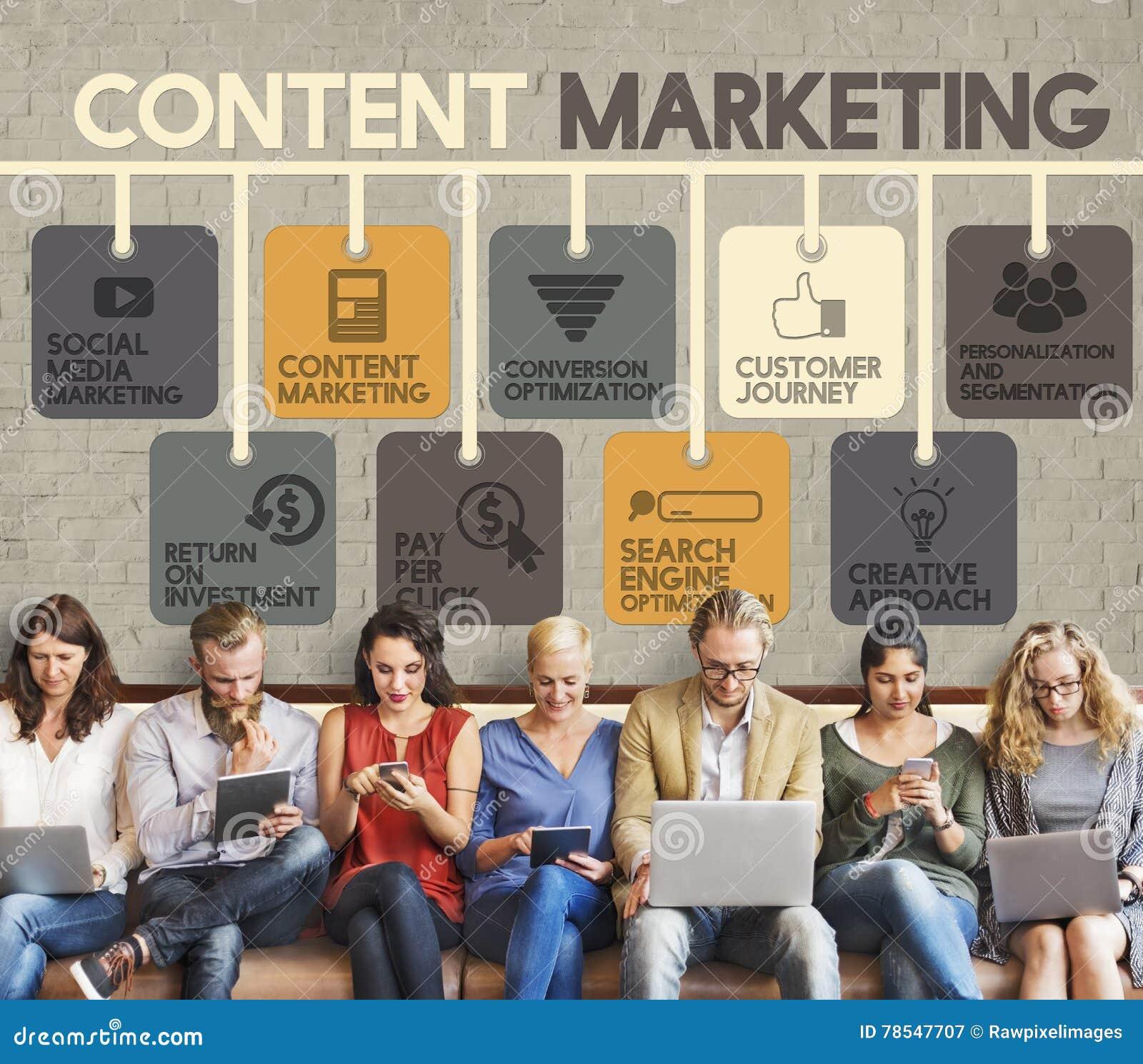 Den nöjda marknadsföringsbloggmarknadsföringen annonserar begrepp