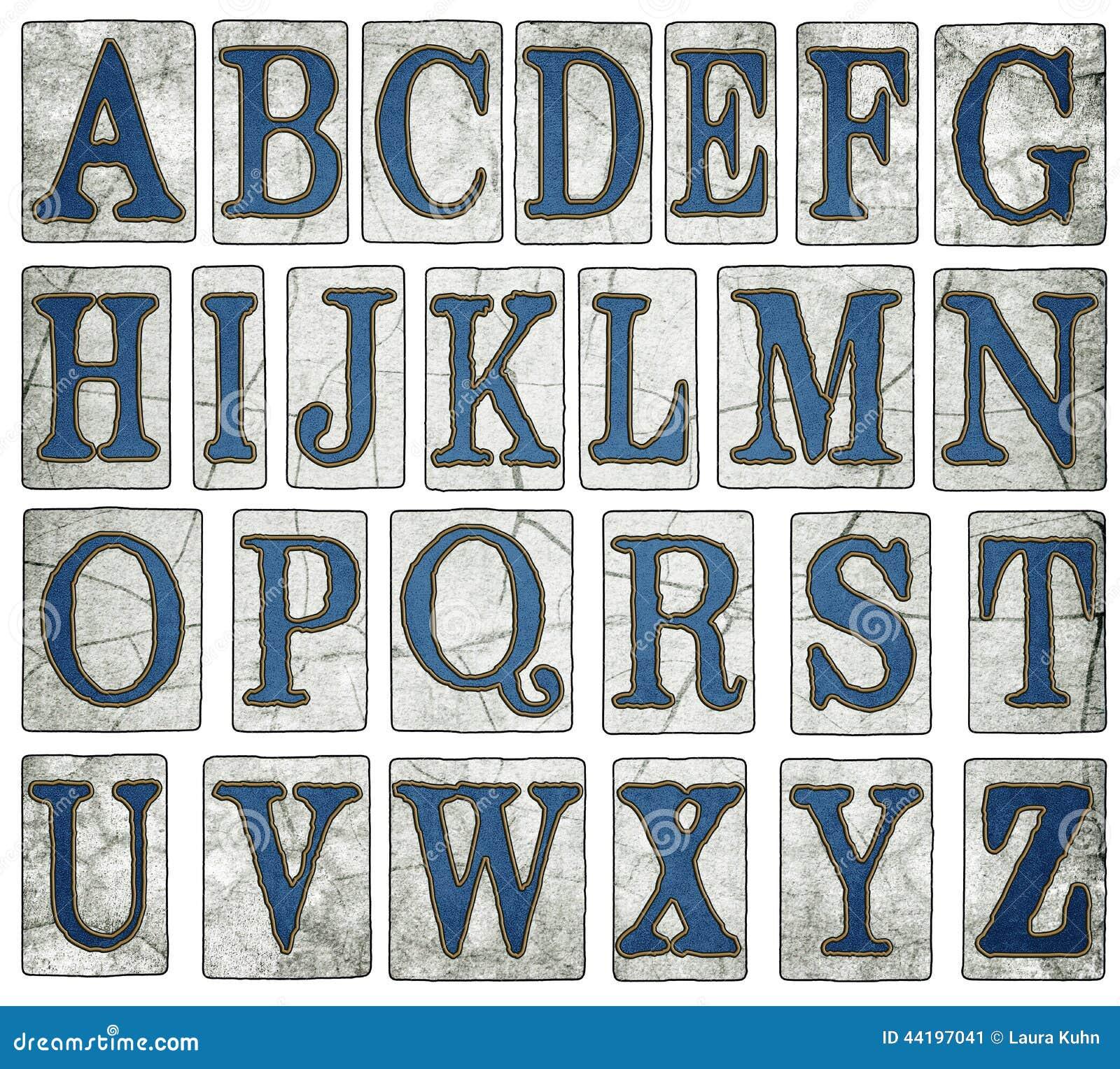 Den New Orleans gatan belägger med tegel det Digital alfabetet