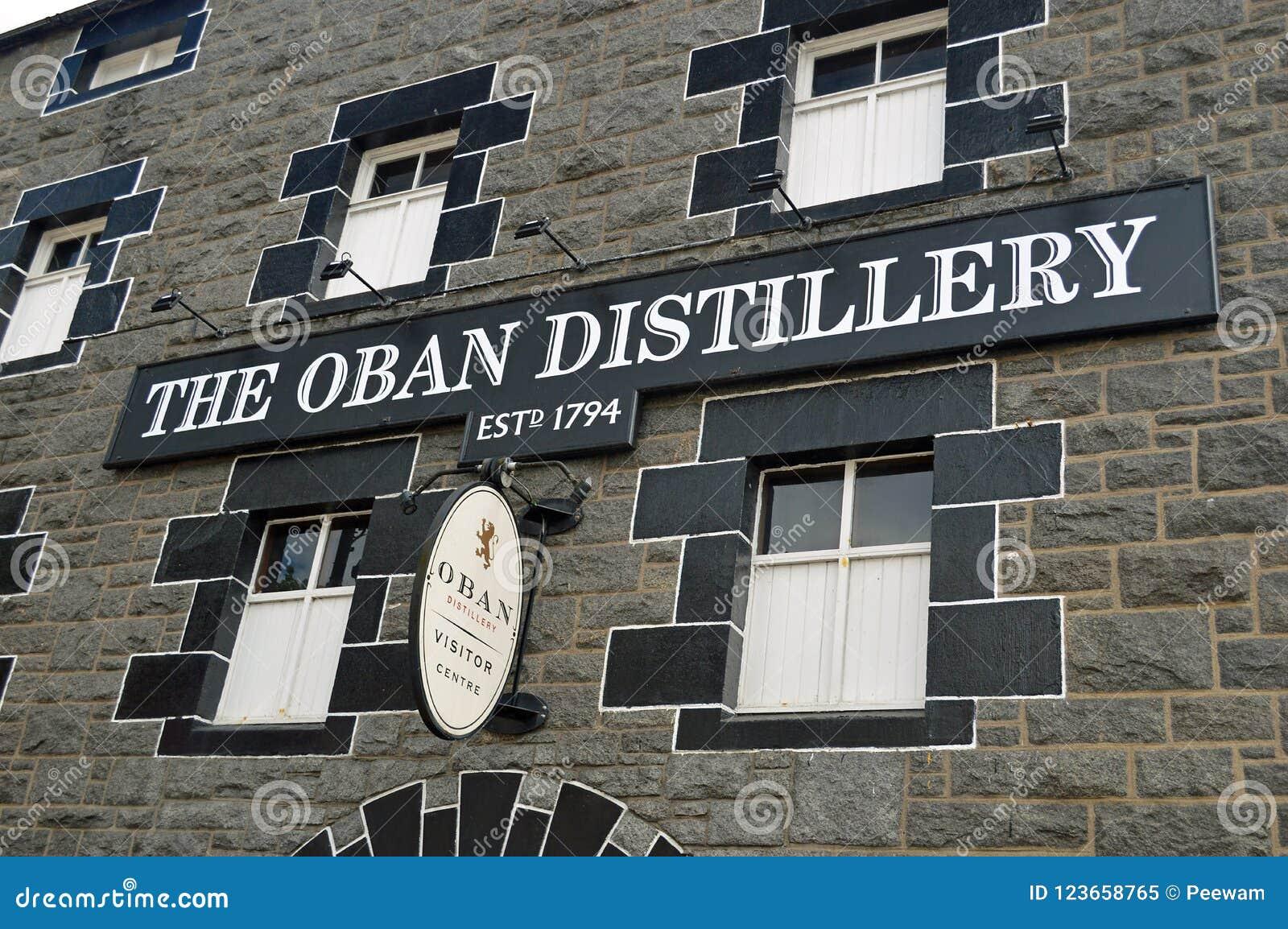 Den Oban spritfabriken Skottland