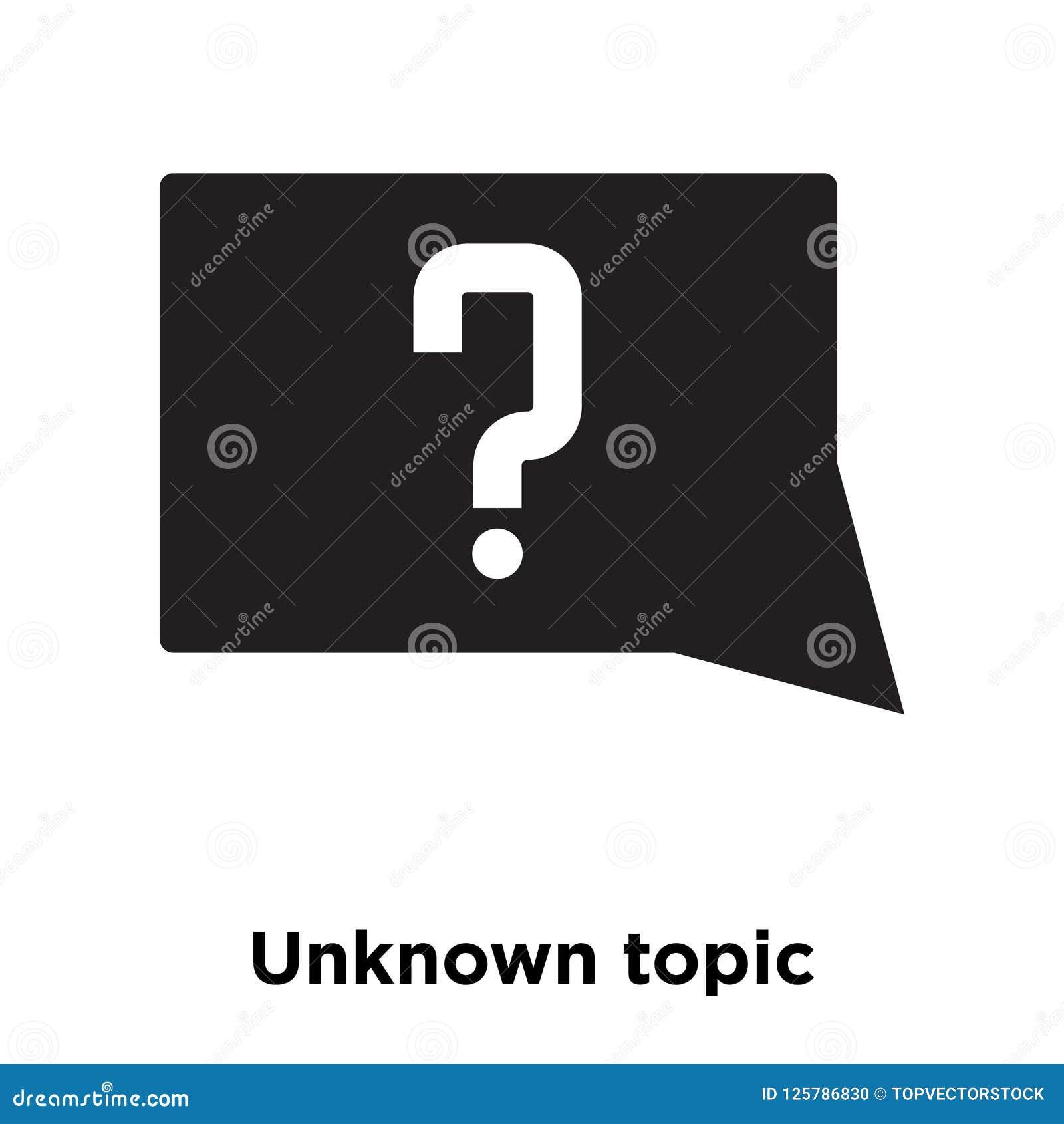 Den okända ämnesymbolsvektorn som isoleras på vit bakgrund, logo lurar