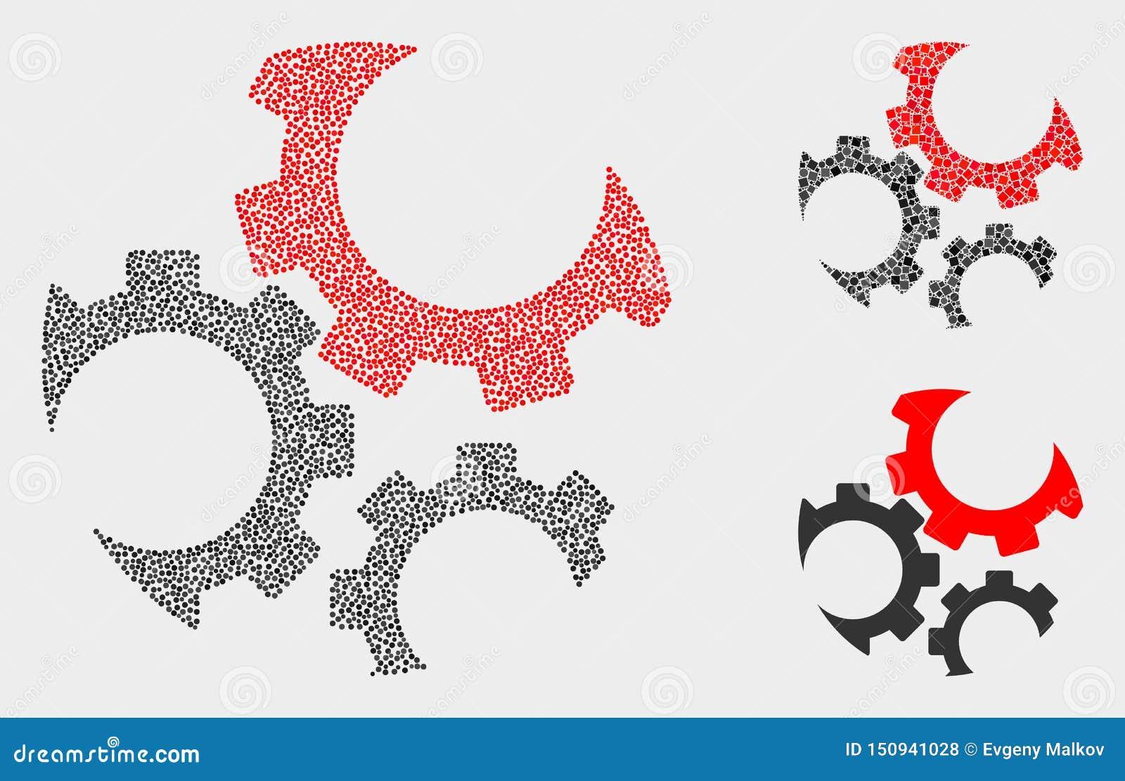 Den Pixelated vektorn utrustar symboler