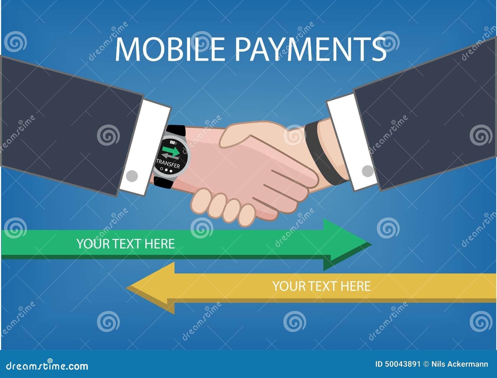 Den plana designstilillustrationen av modernt ilar klockan med att bearbeta av mobila betalningar från en apparat till andra