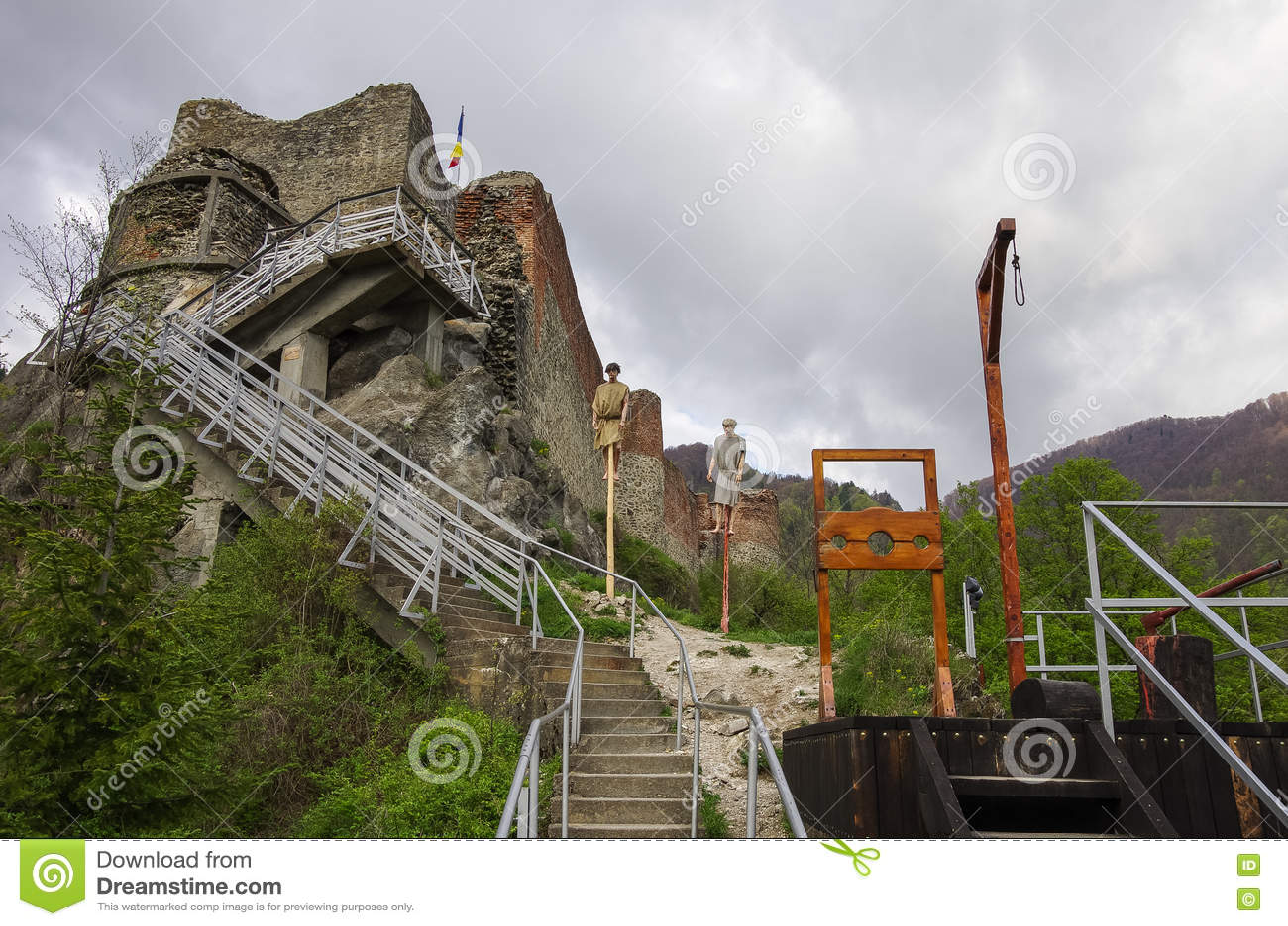 Den Poenari fästningen är den Vlad Tepes slotten, prins av medeltida Wallac