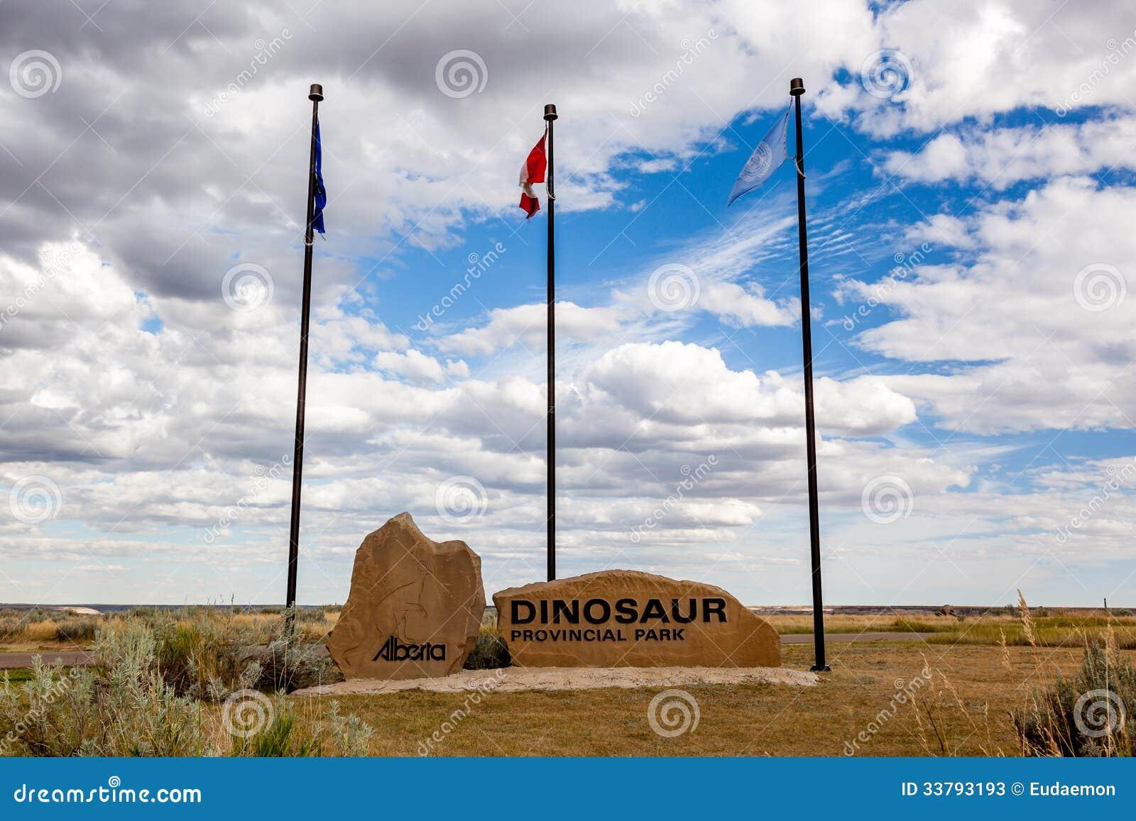 Den provinsiella dinosaurien parkerar - Alberta, Kanada
