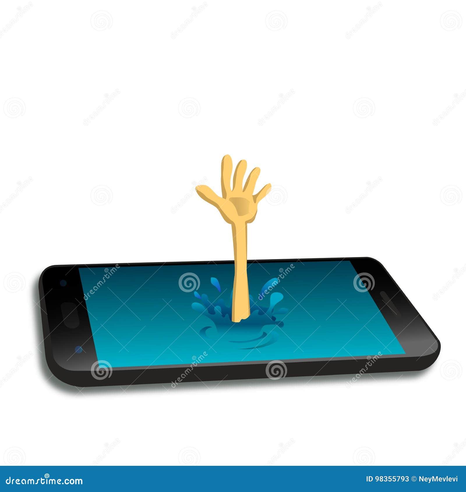 Den psykiska utstrålningen av smartphonen