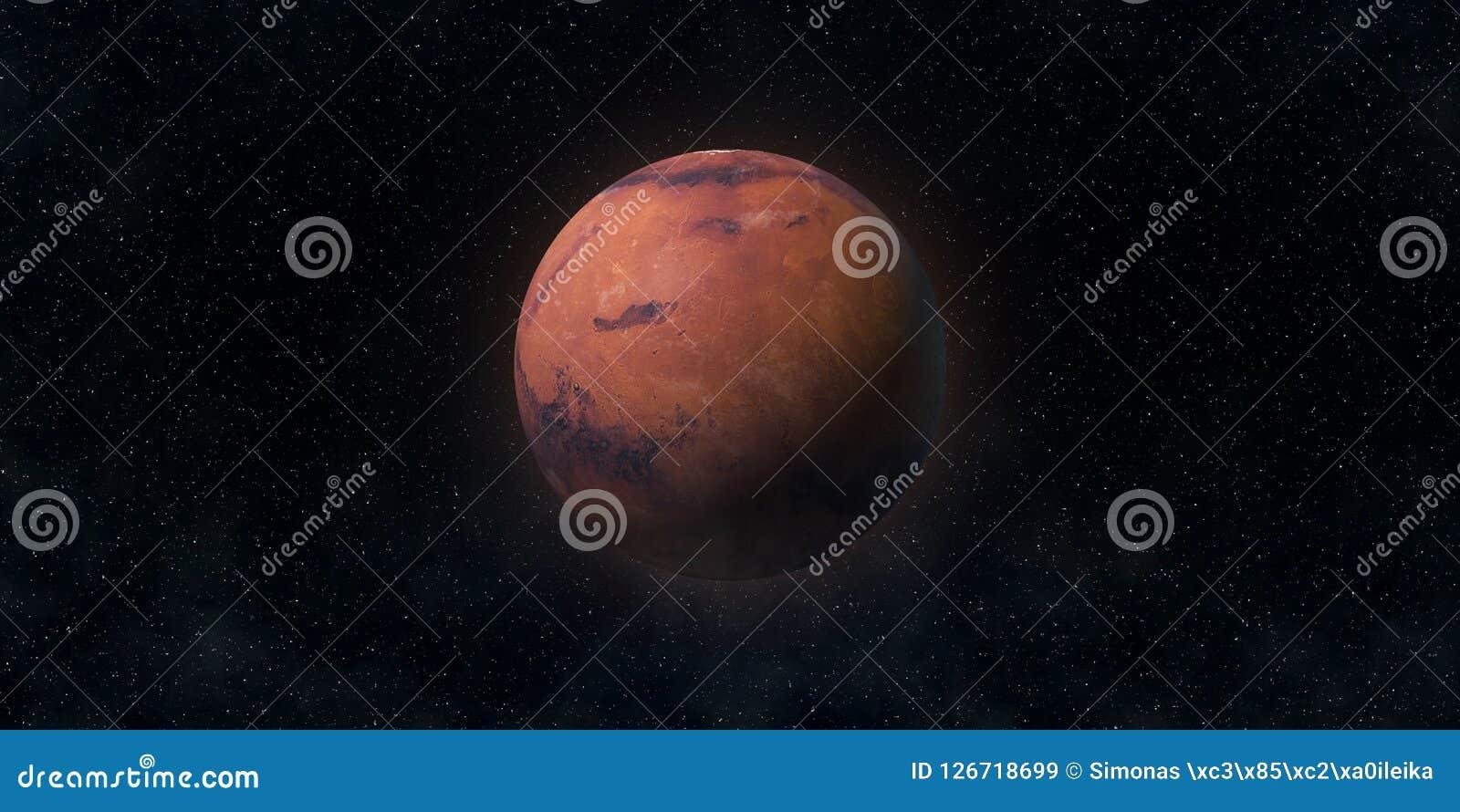 Den röda planeten fördärvar Astronomi- och vetenskapsbegrepp Beståndsdelar av denna avbildar möblerat av NASA