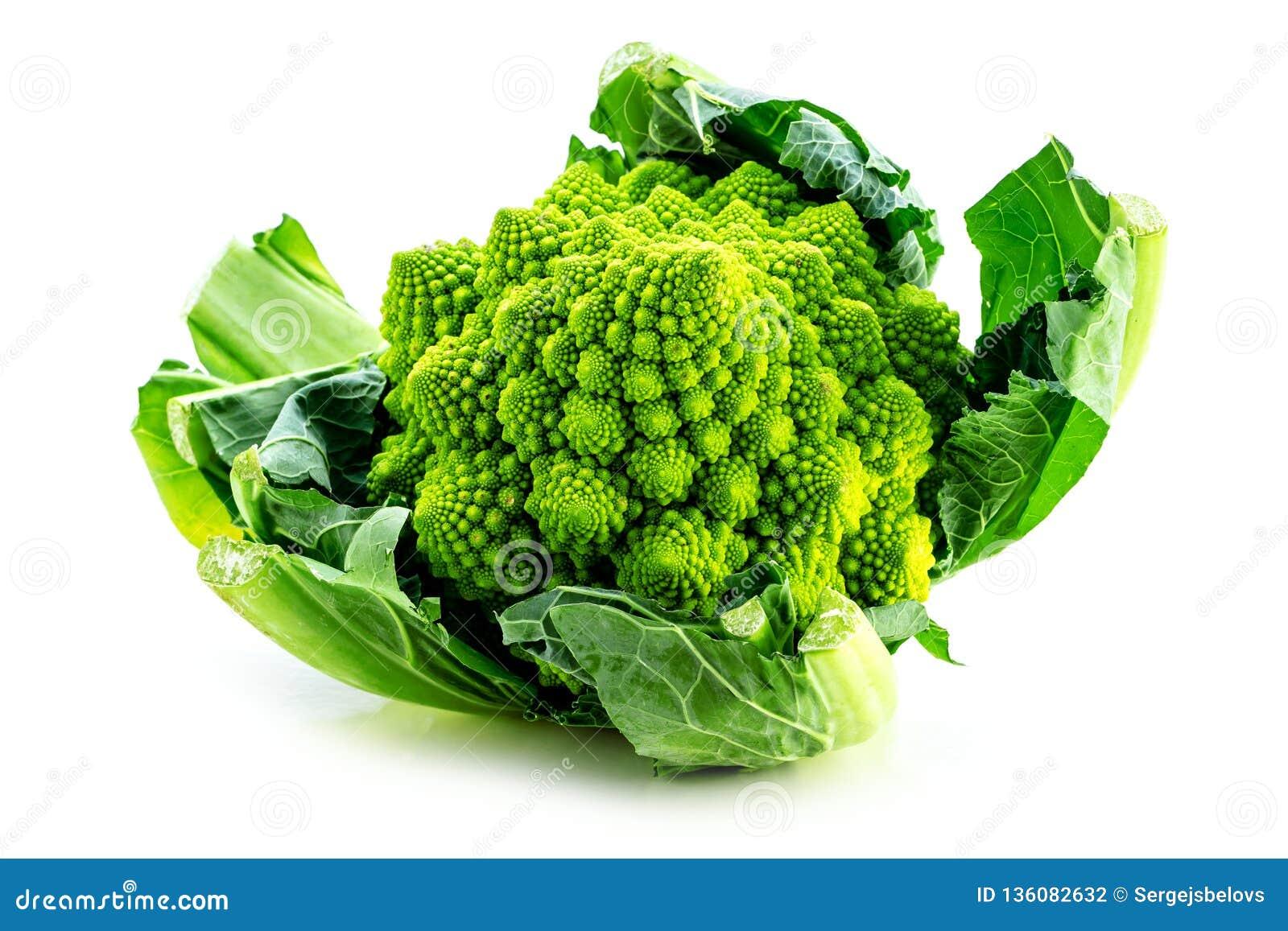 Den Romanesco broccoligrönsaken föreställer en naturlig fractalmodell och är rik i vitimans