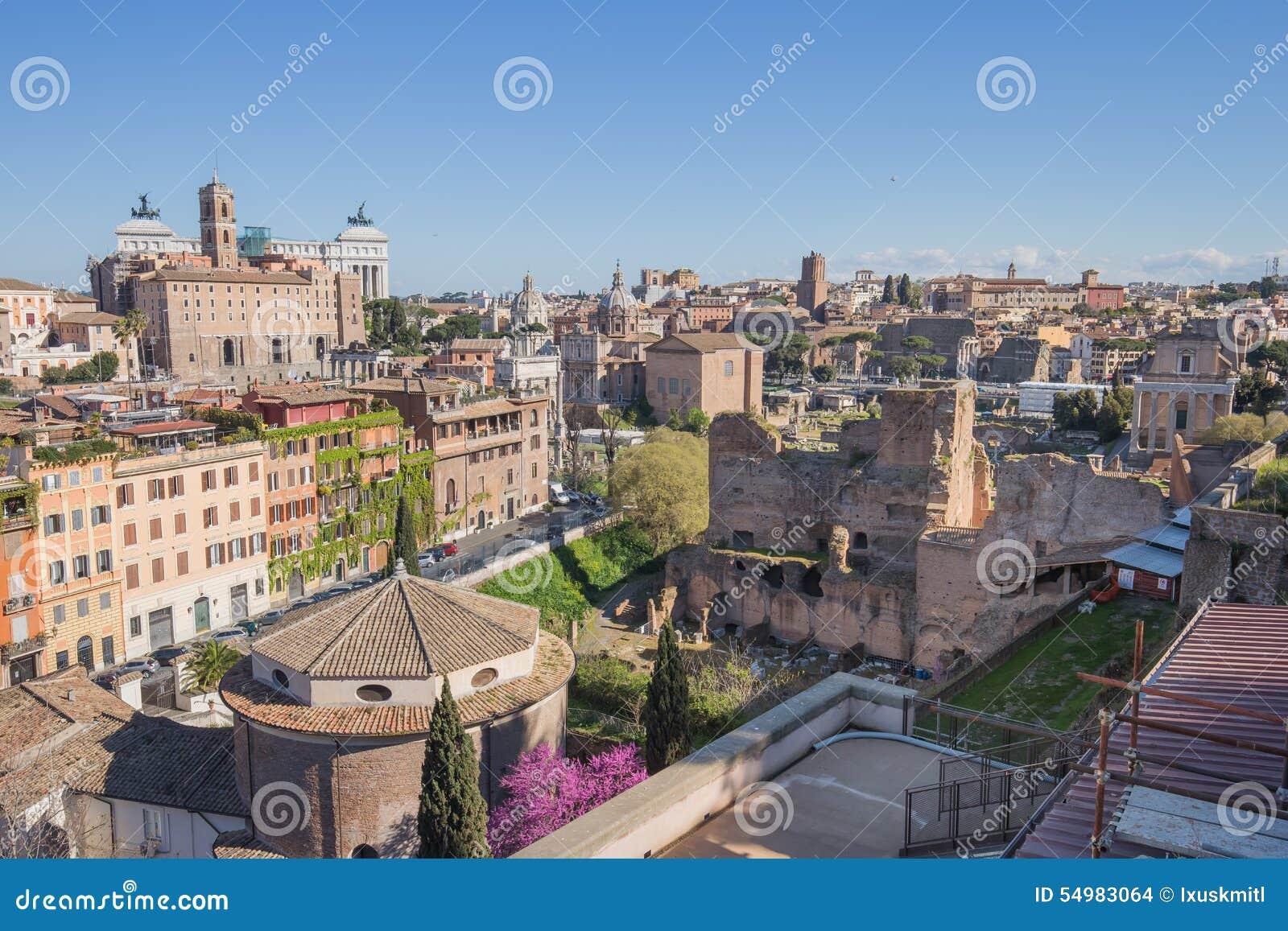Den Rome cityscapen i Italien