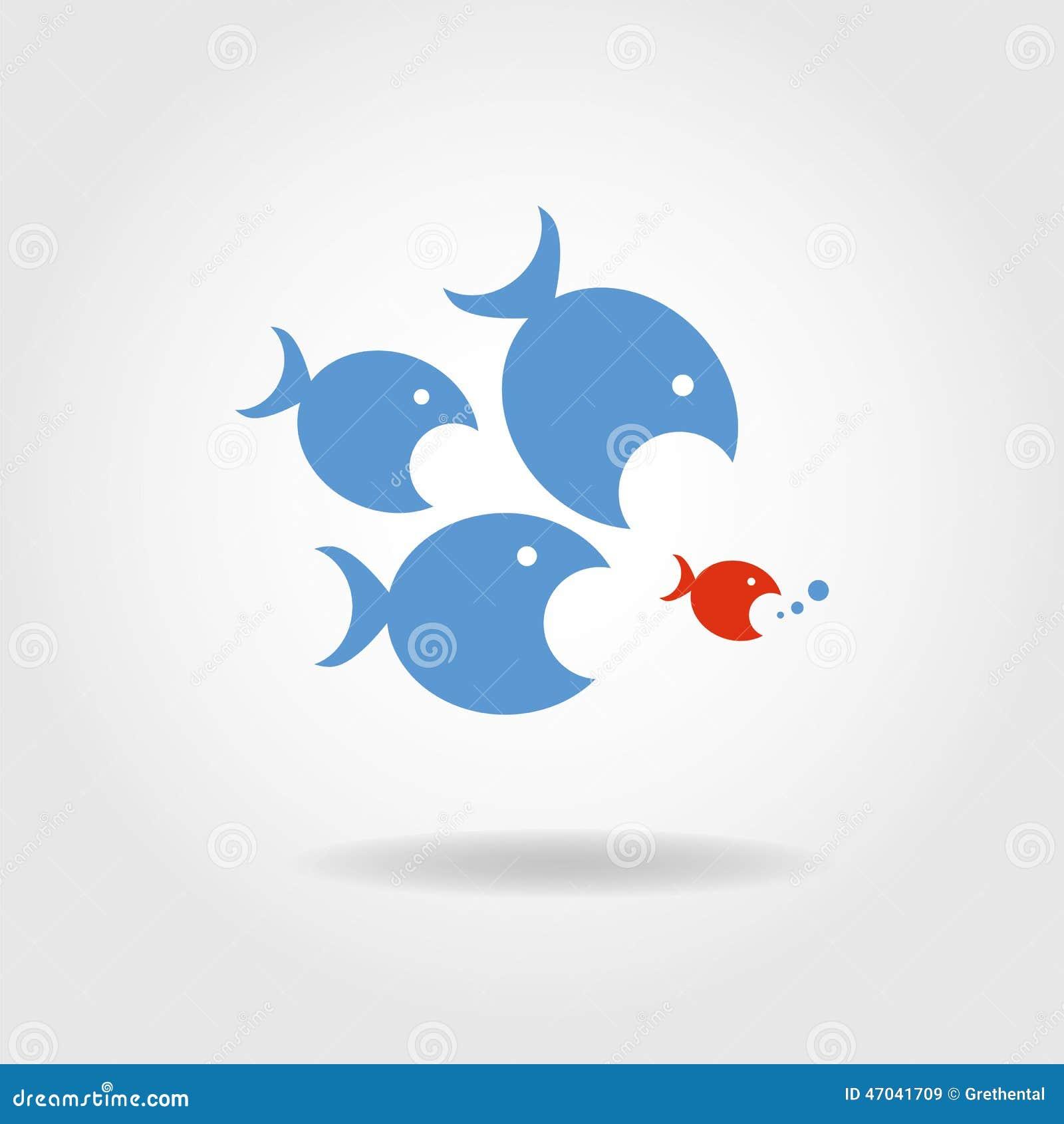 Den rov- fisken förföljer rovet