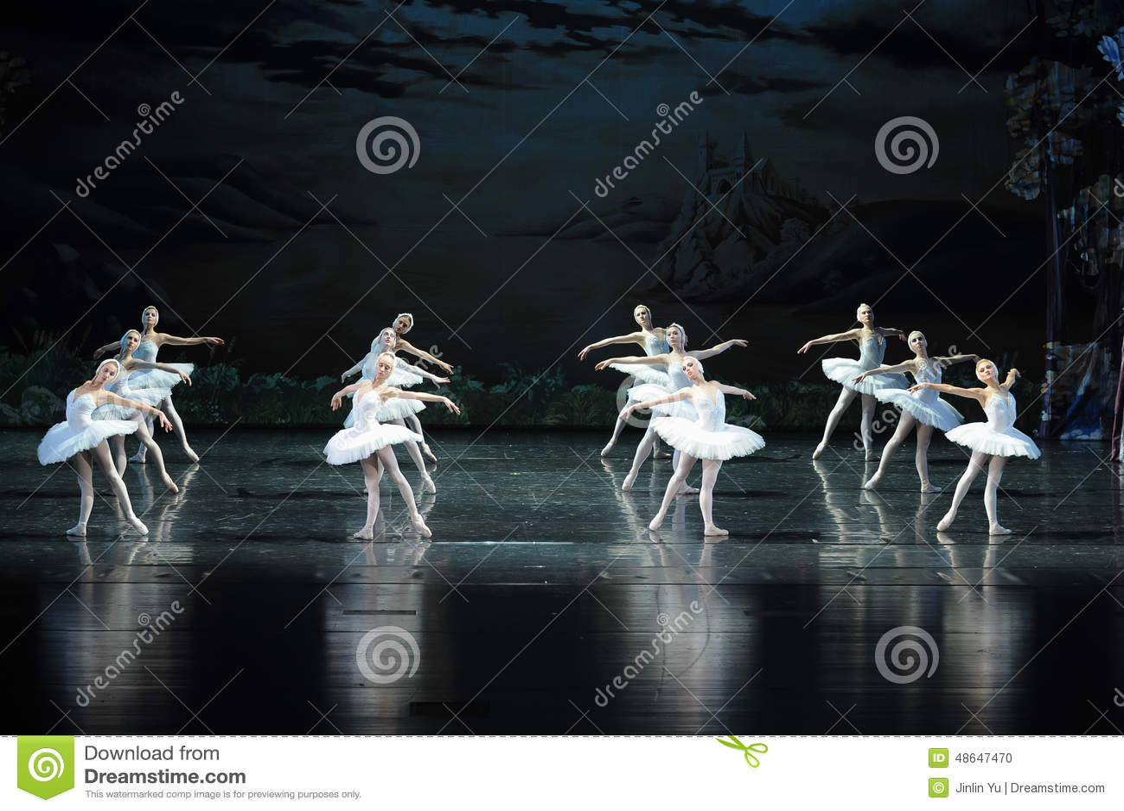 Den rumsrena svanlag-balett svan sjön