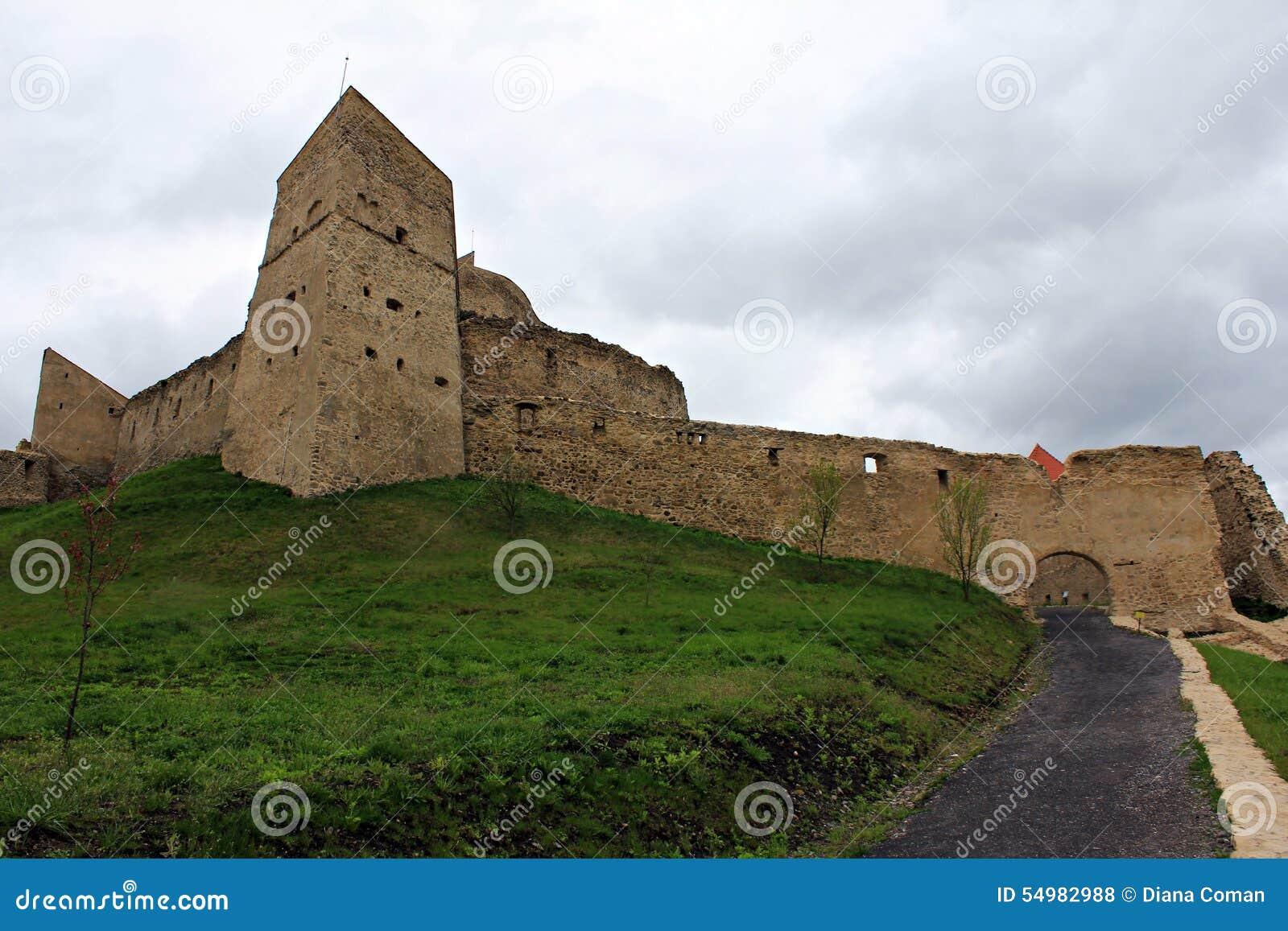 Den Rupea fästningen - fördärvar