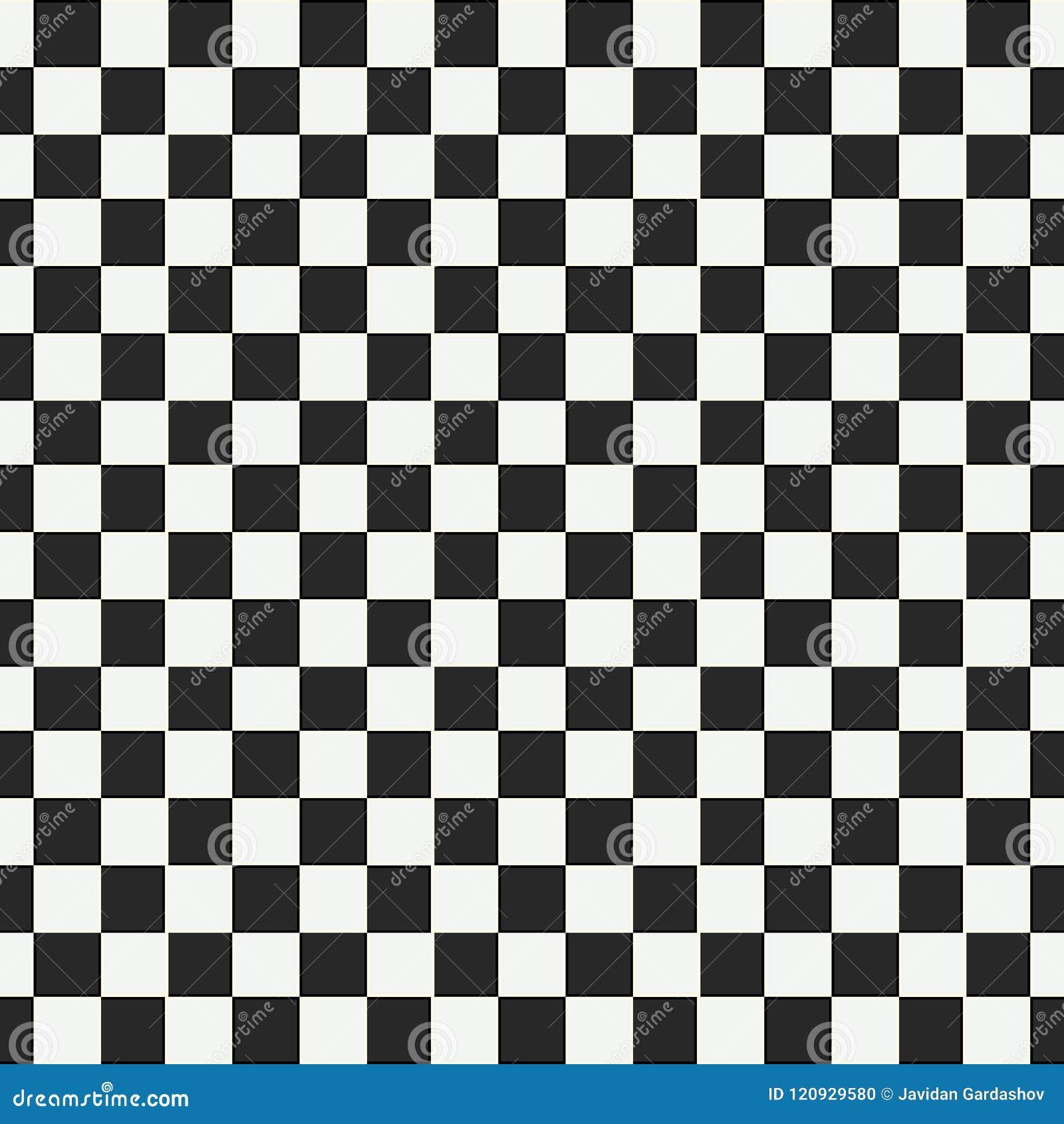 Den rutiga geometriska sömlösa modellen med den lilla ojämna fyrkanten formar Abstrakt monokrom svartvit textur