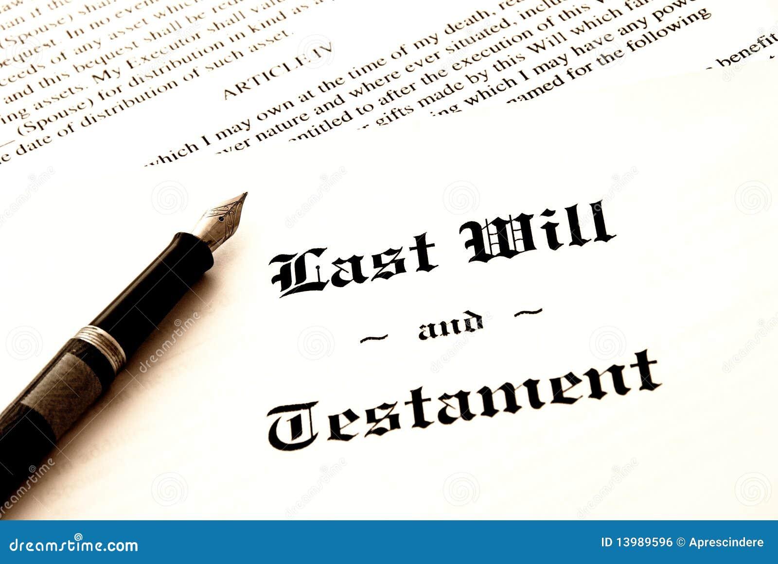 Den sista testamentet skallr