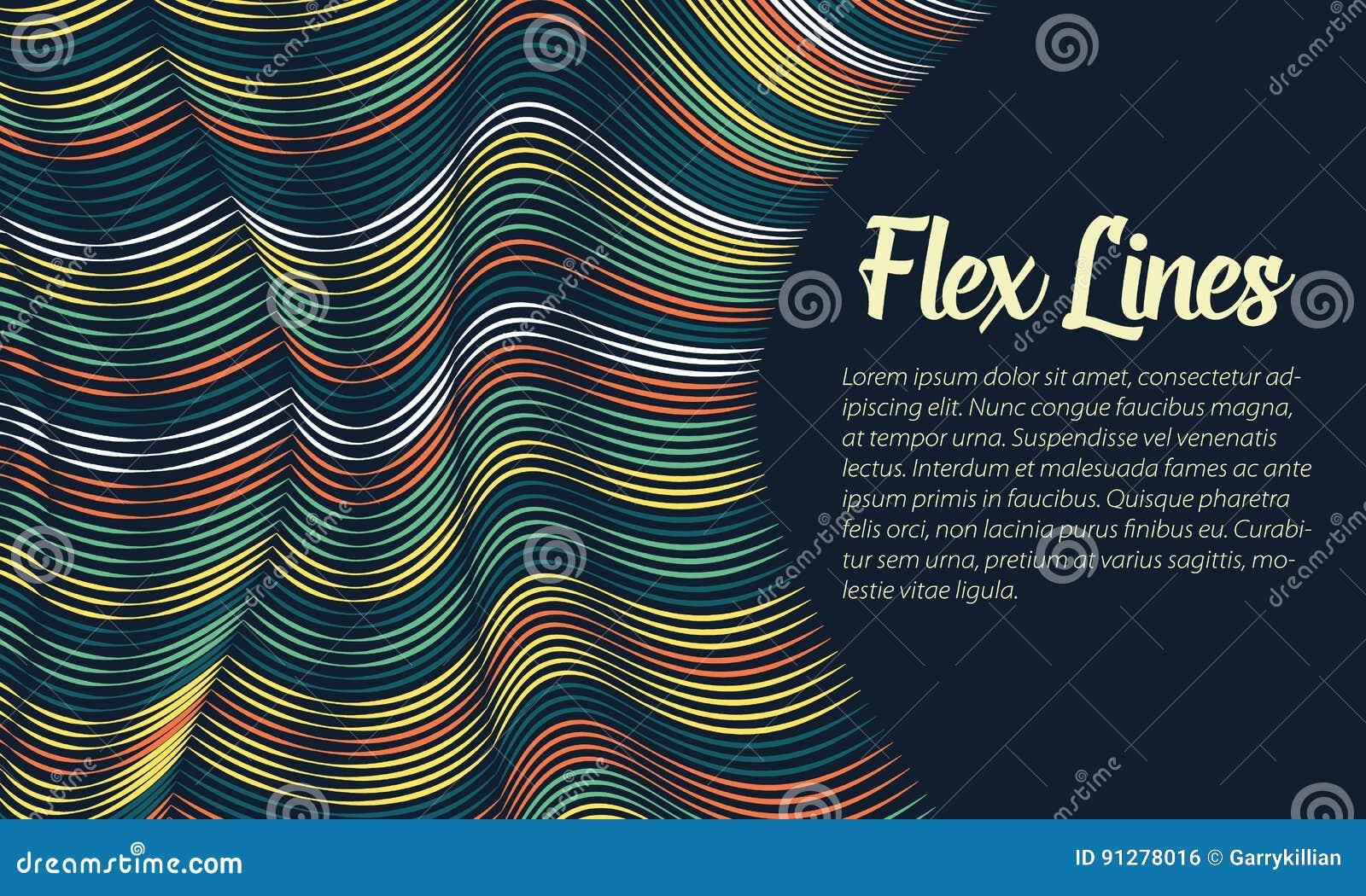 Den snedvred vektorn fodrar bakgrund Böjliga band som vrids som silke som bildar volymetriska veck