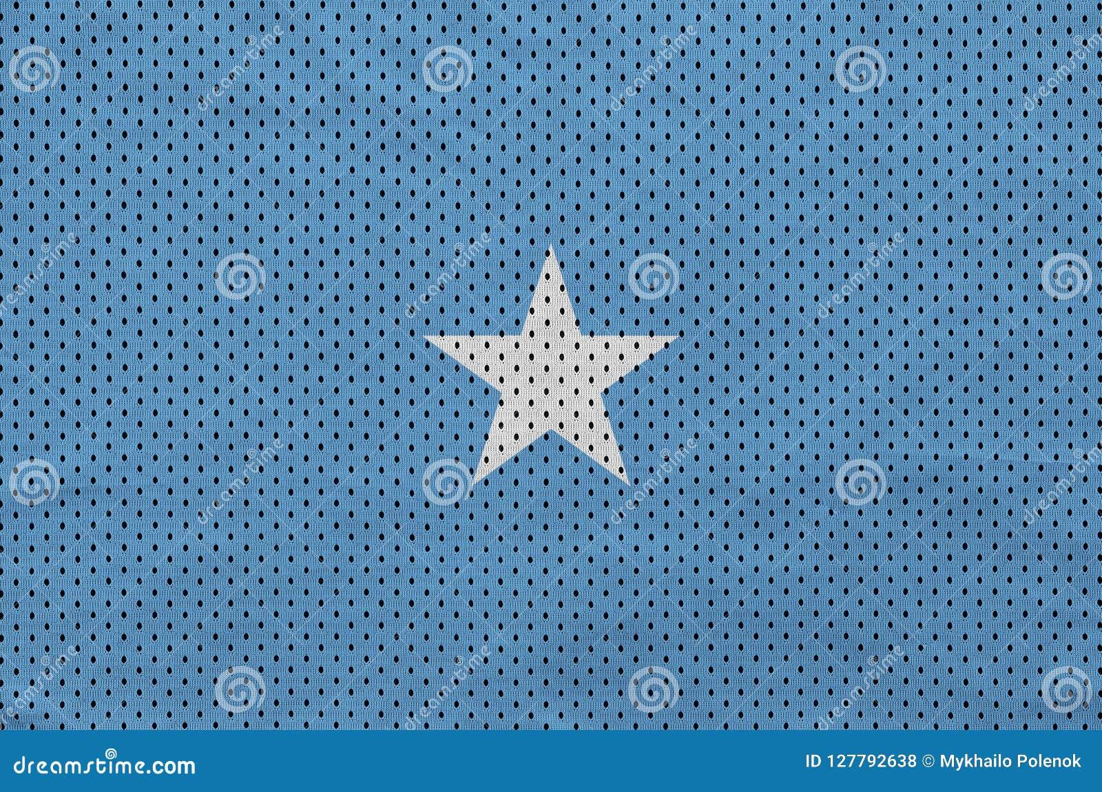 Den Somalia flaggan skrivev ut på ett tyg för ingrepp för polyesternylonsportswear
