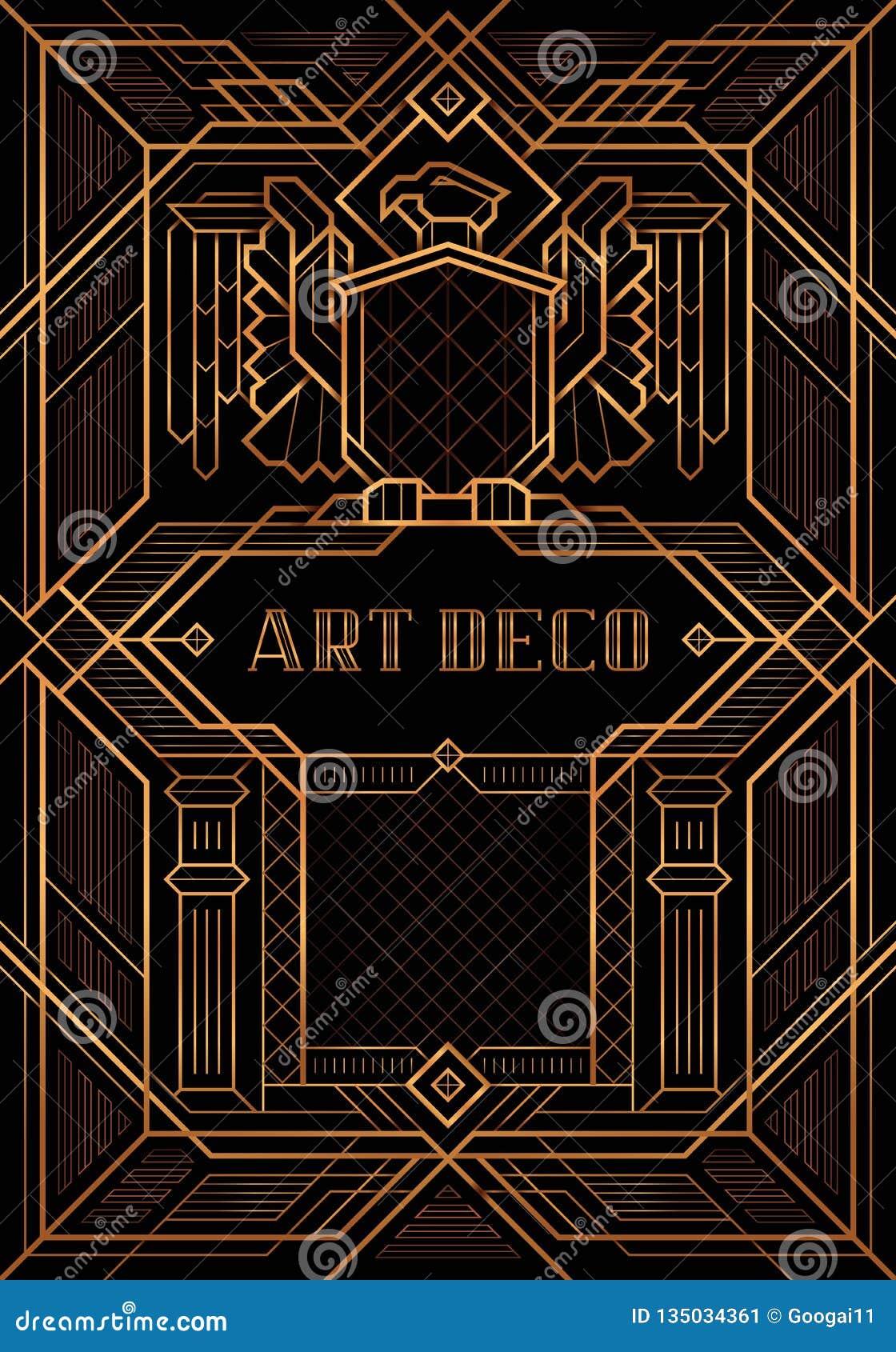 Den stora Gatsby Deco stilvektorn