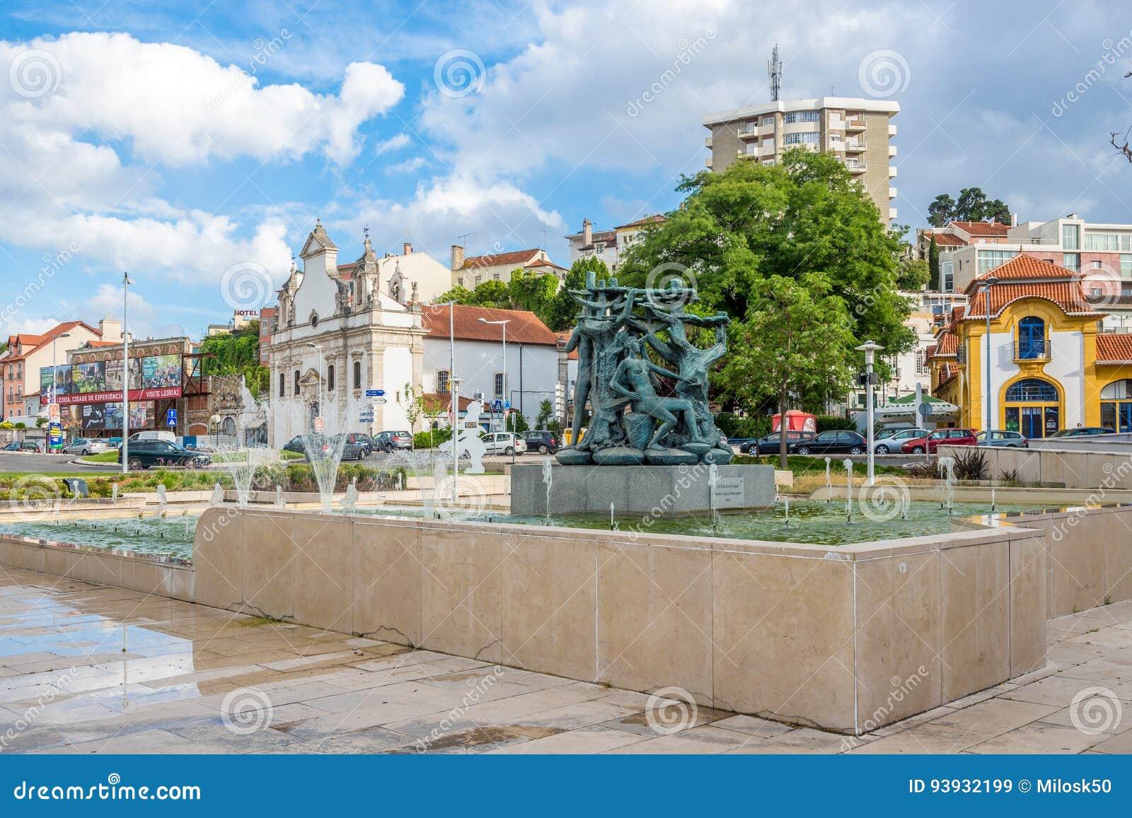 In den Straßen von Leiria in Portugal