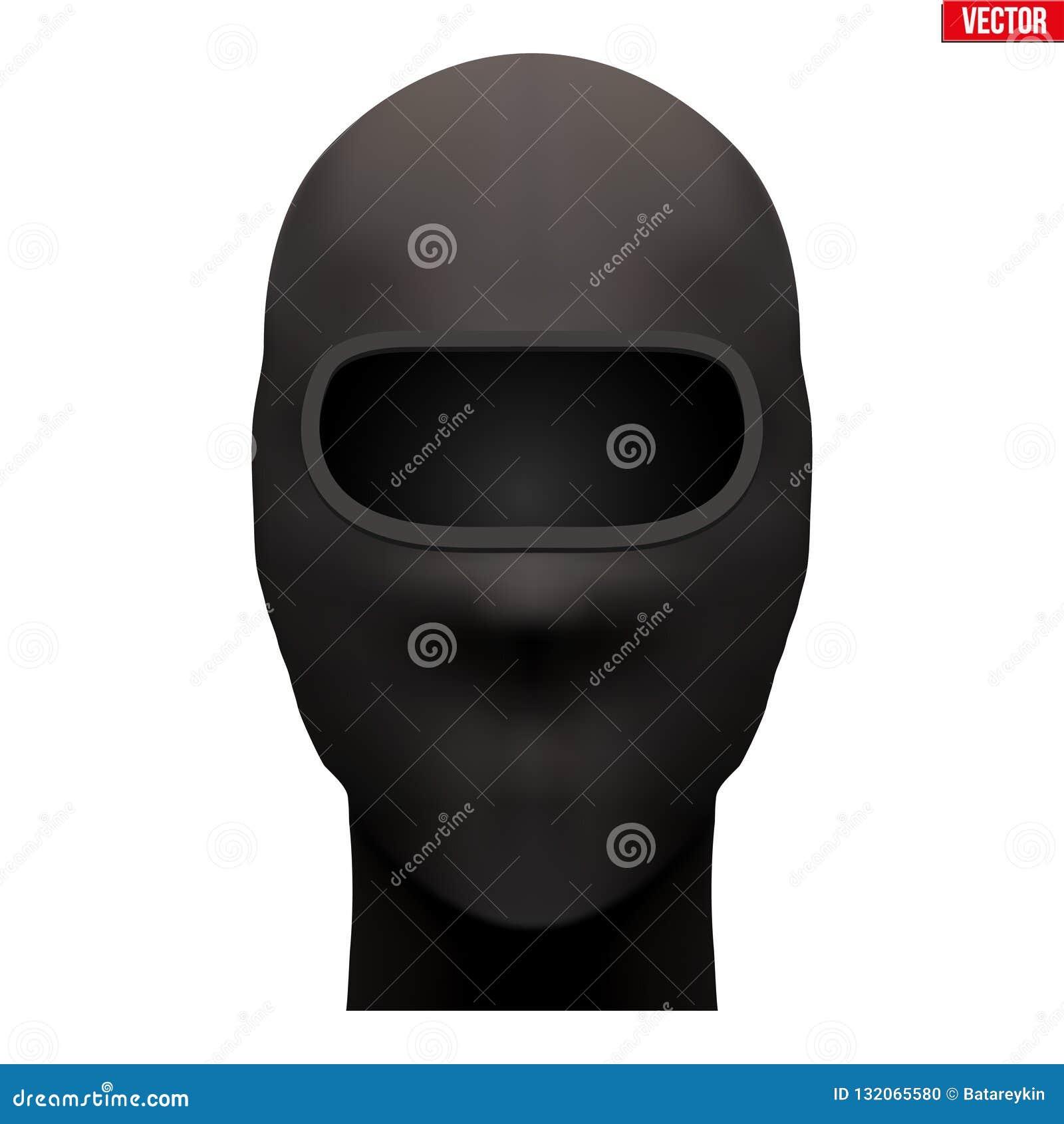 Den svarta balaclavaen SKIDAR maskeringen