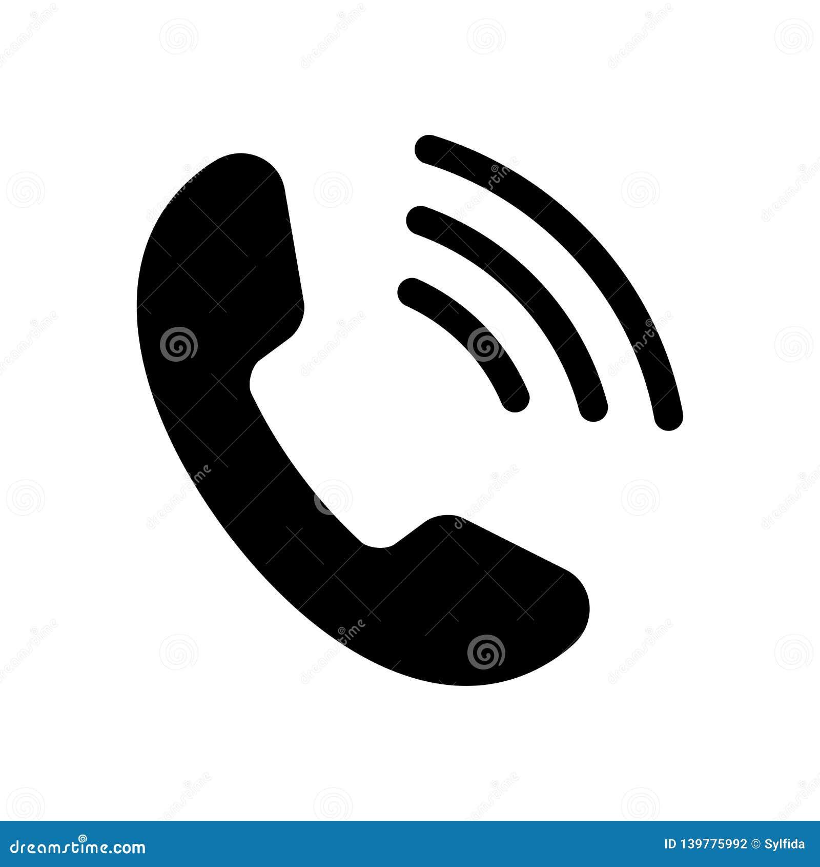 Den svarta telefonsymbolen isolerade också vektor för coreldrawillustration