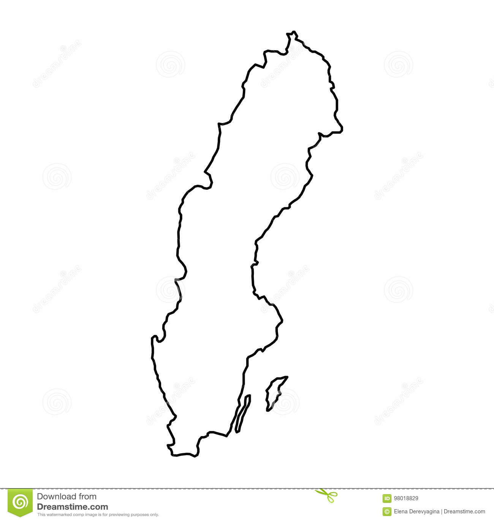 Sverigekarta bild gratis