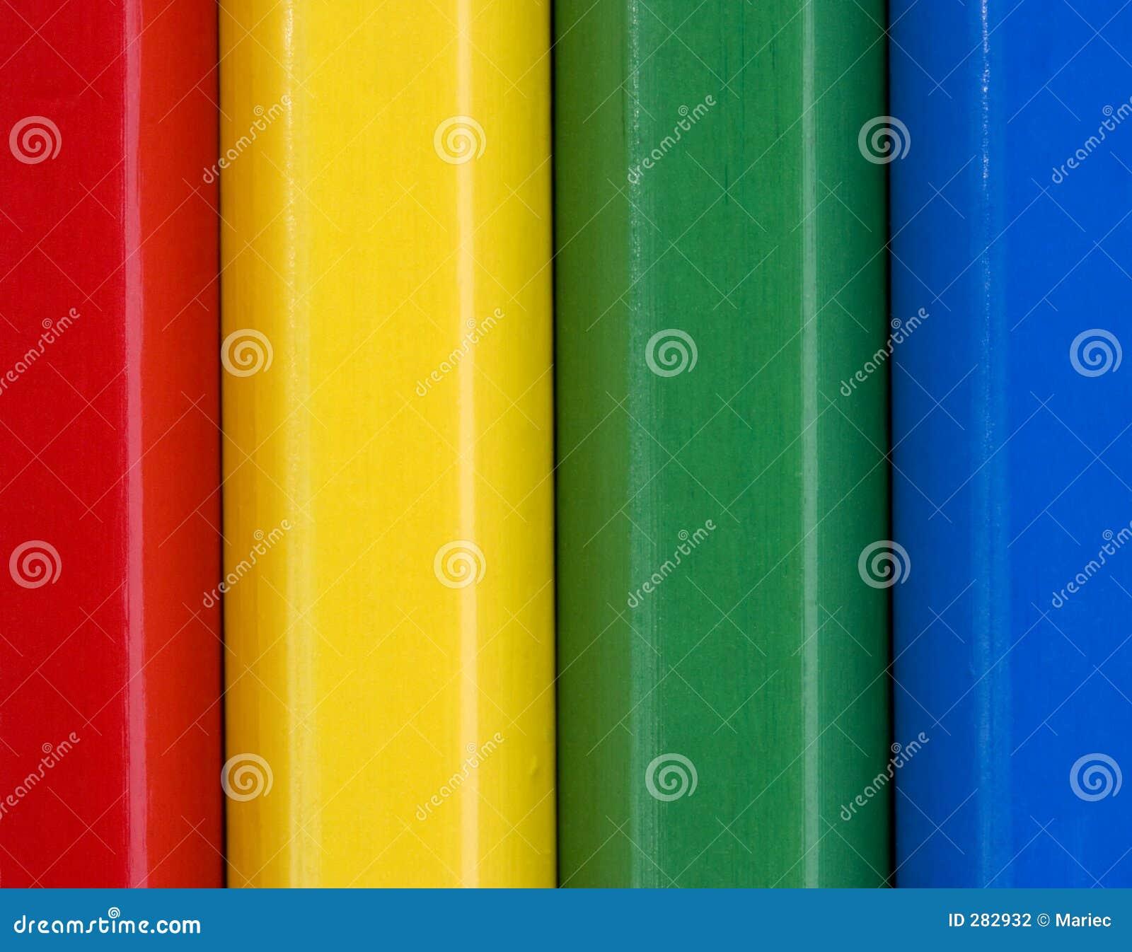 Den täta färgglada bilden pencils upp
