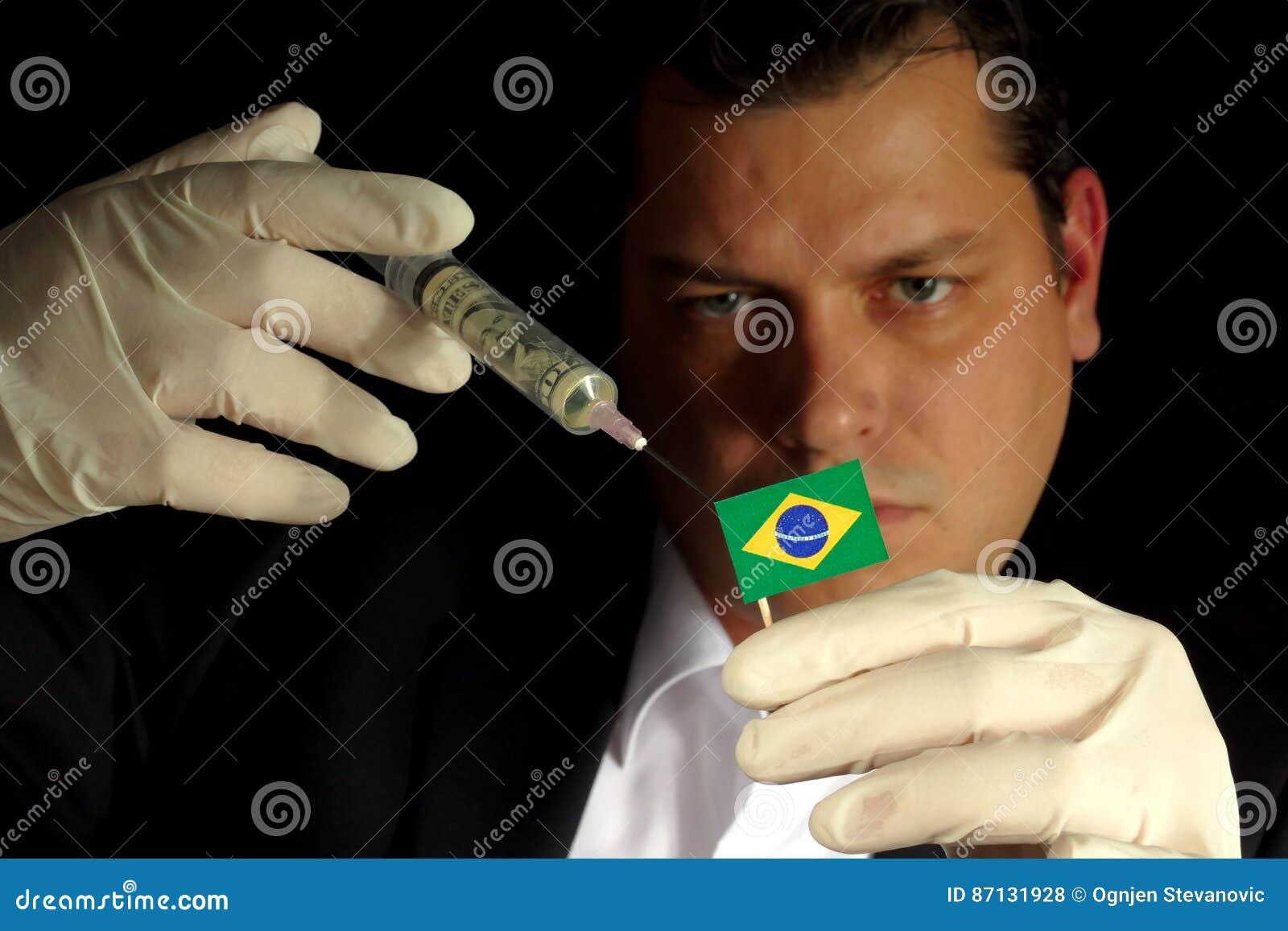 Den unga affärsmannen ger en finansiell injektion till den brasilianska flaggan
