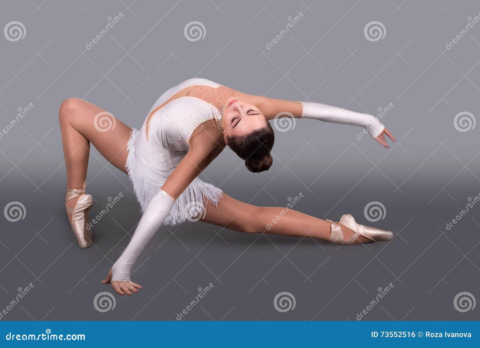 Den unga ballerina i punktdanser