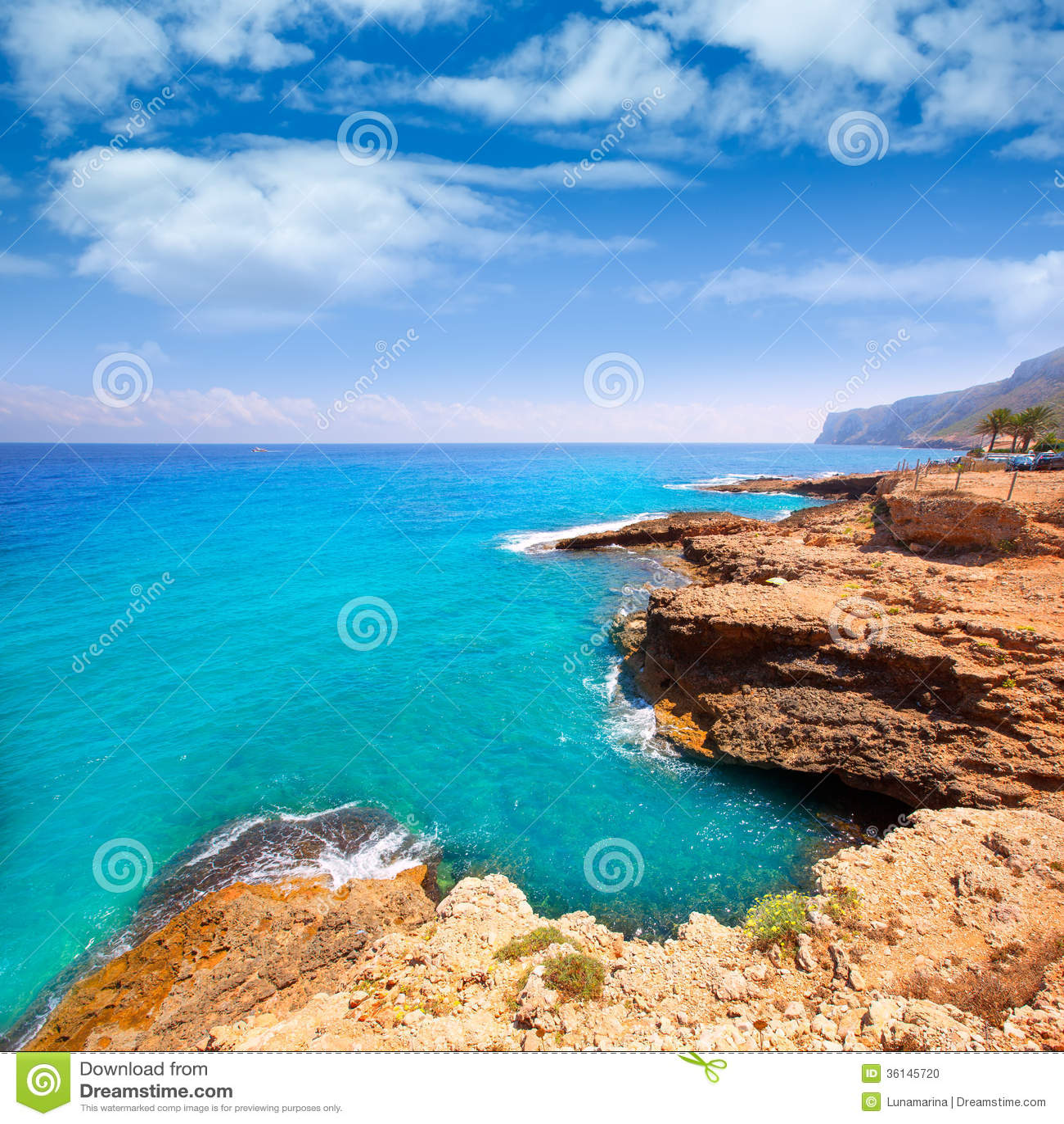 denia alicante las rotas rocky beach in spain stock photo image of